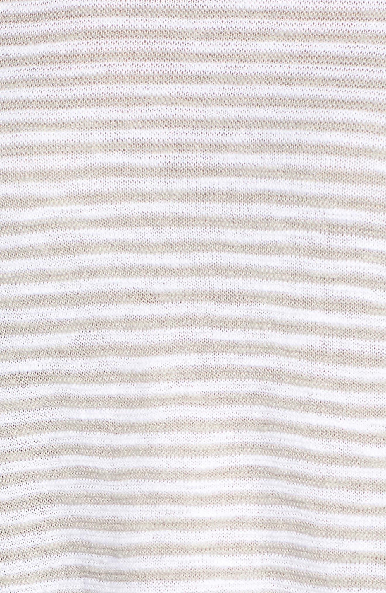 Stripe Organic Linen & Cotton Sweater,                             Alternate thumbnail 5, color,                             192