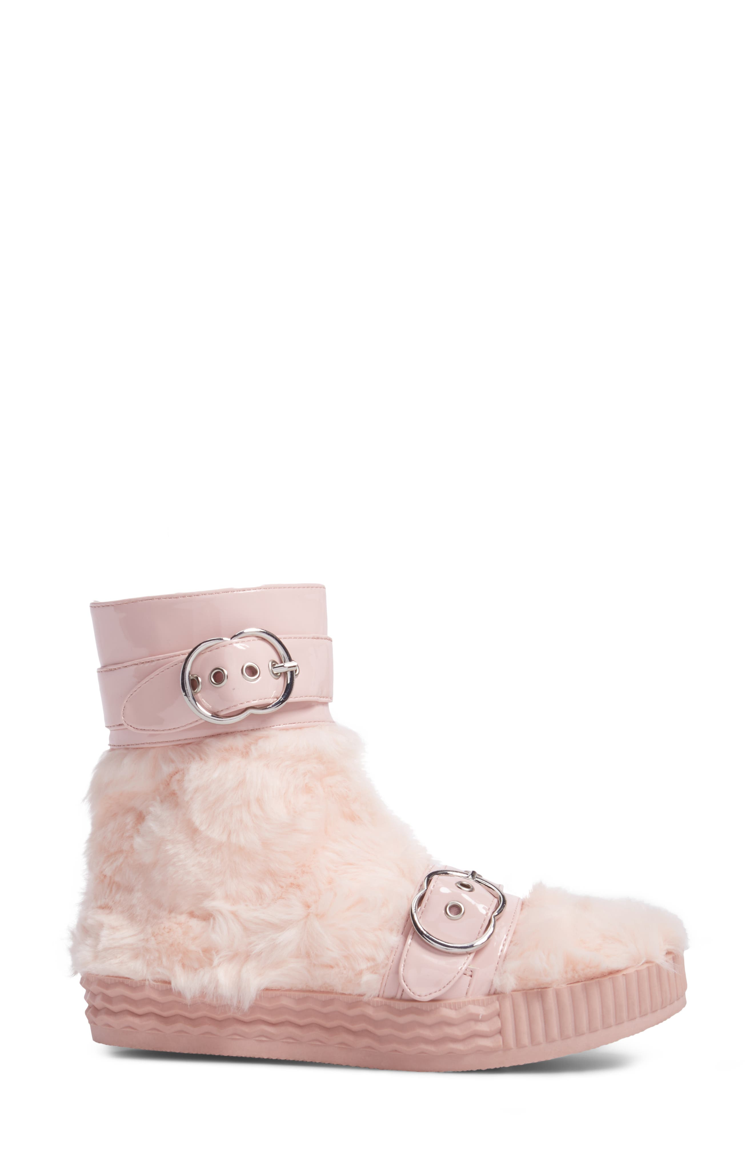 Vivant Faux Fur Sneaker Boot,                             Alternate thumbnail 3, color,                             672