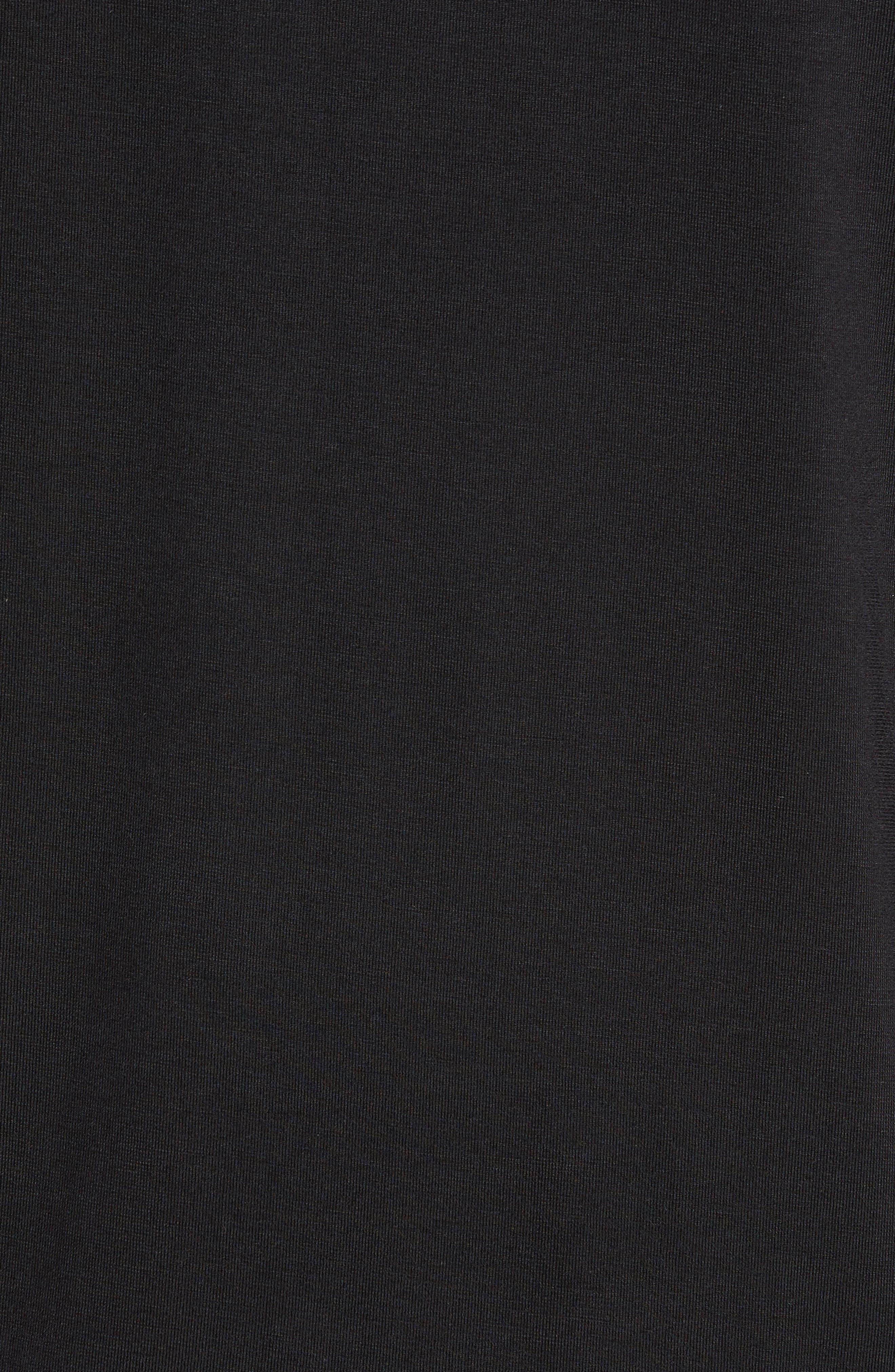 Second Skin T-Shirt,                             Alternate thumbnail 5, color,                             BLACK