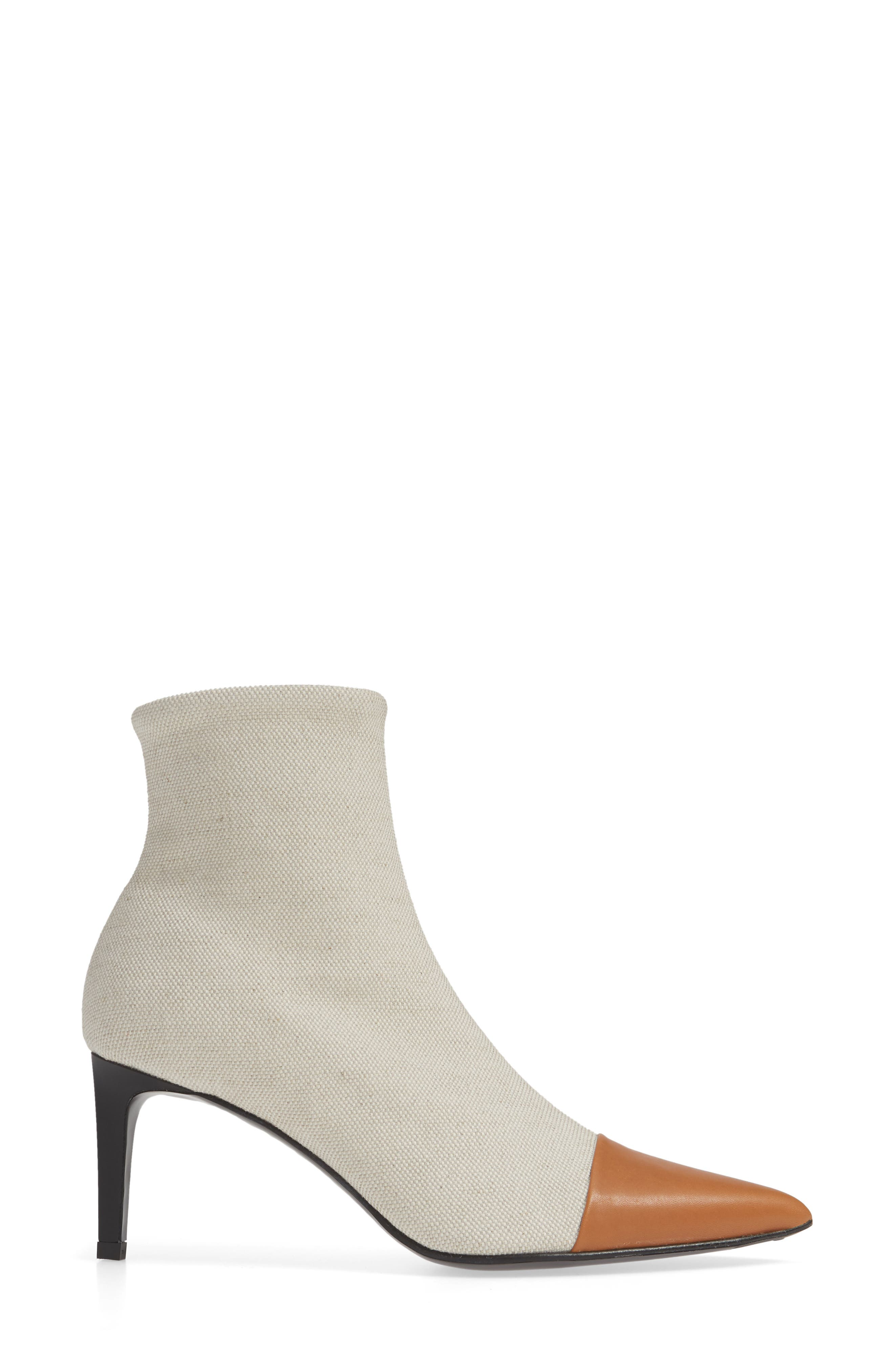 Beha Pointy Toe Bootie,                             Alternate thumbnail 3, color,                             ECRU