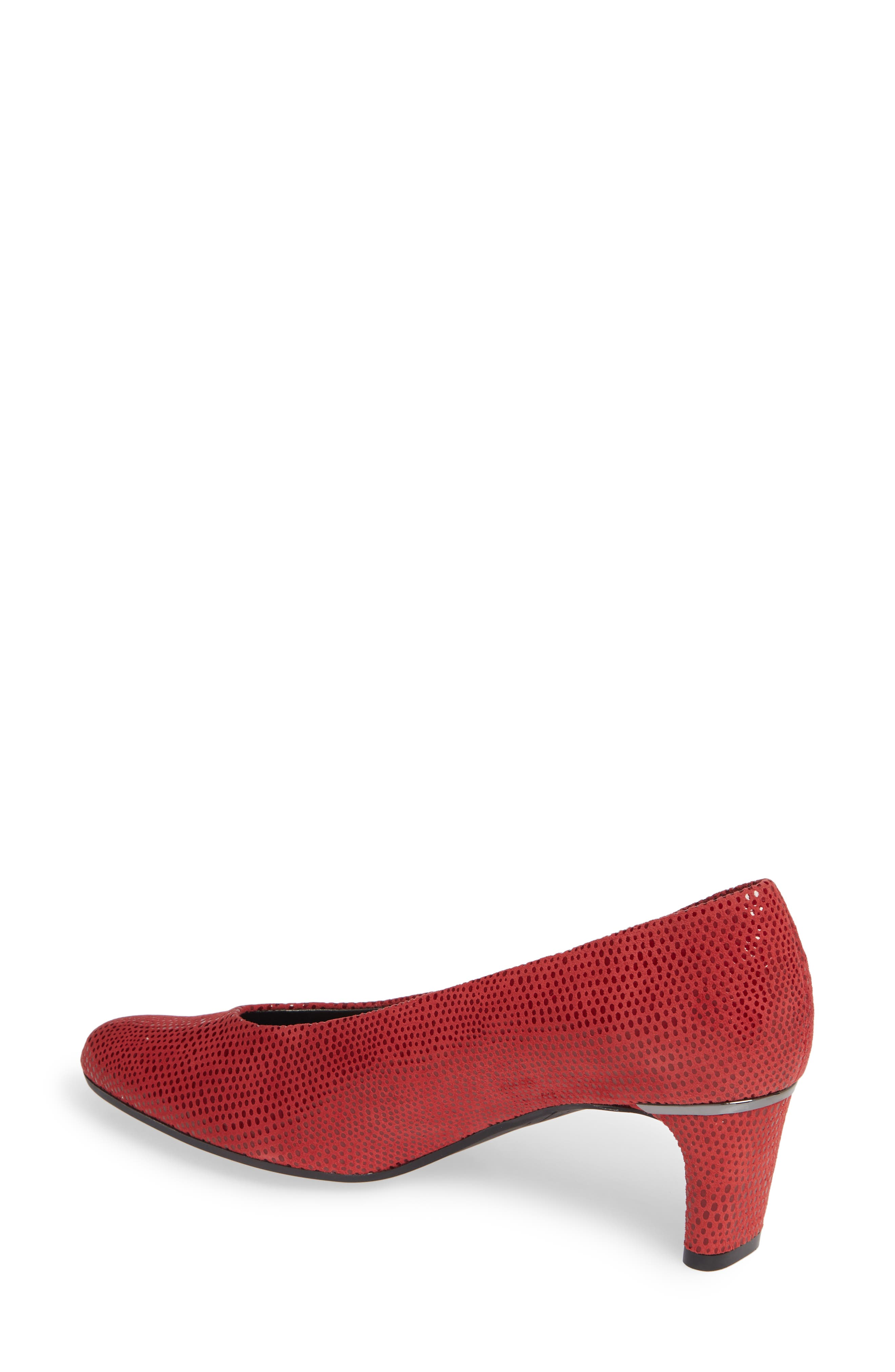 'Dayle' Pump,                             Alternate thumbnail 2, color,                             RED LEATHER
