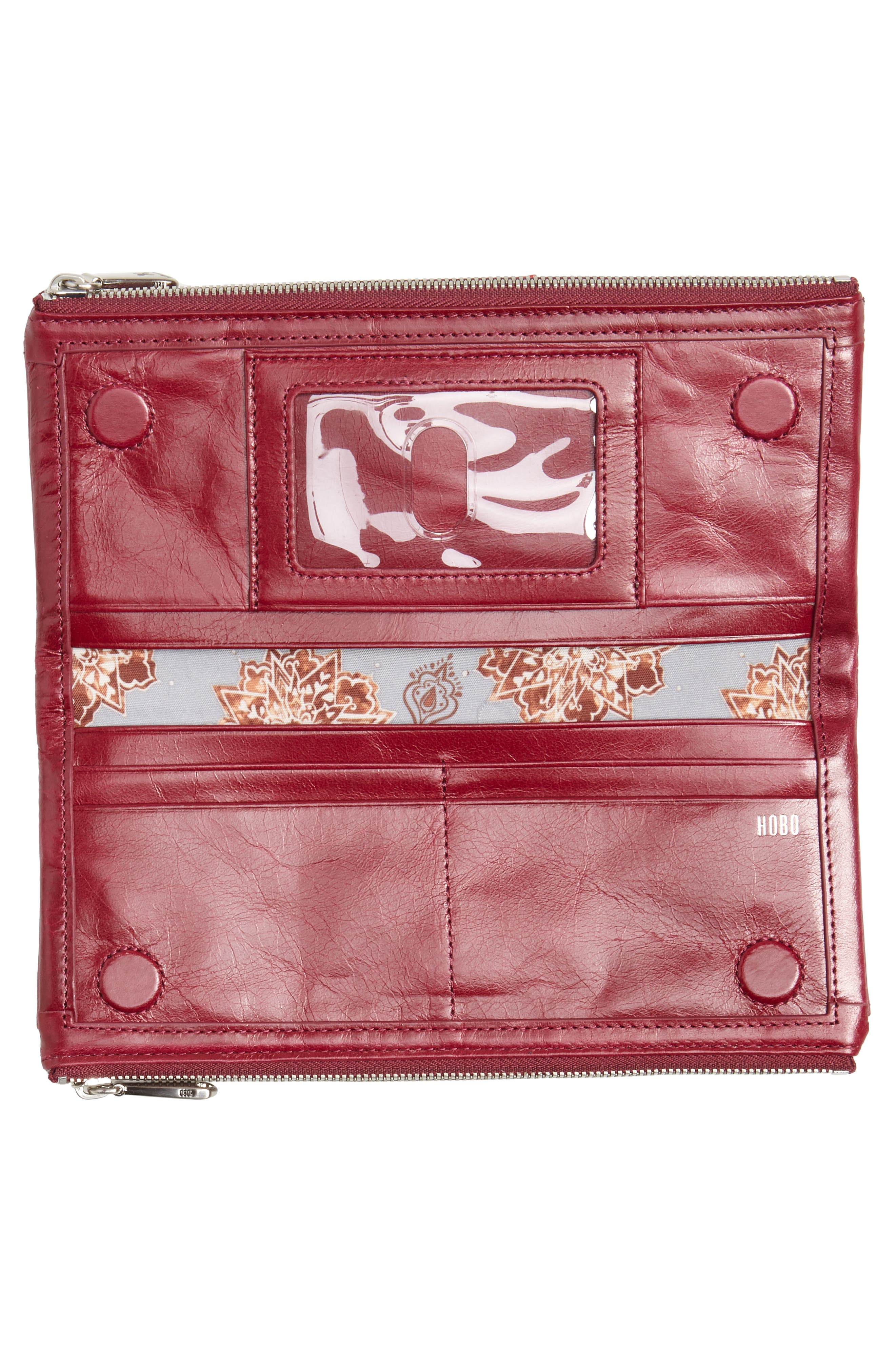 Taylor Glazed Wallet,                             Alternate thumbnail 4, color,                             RUBY
