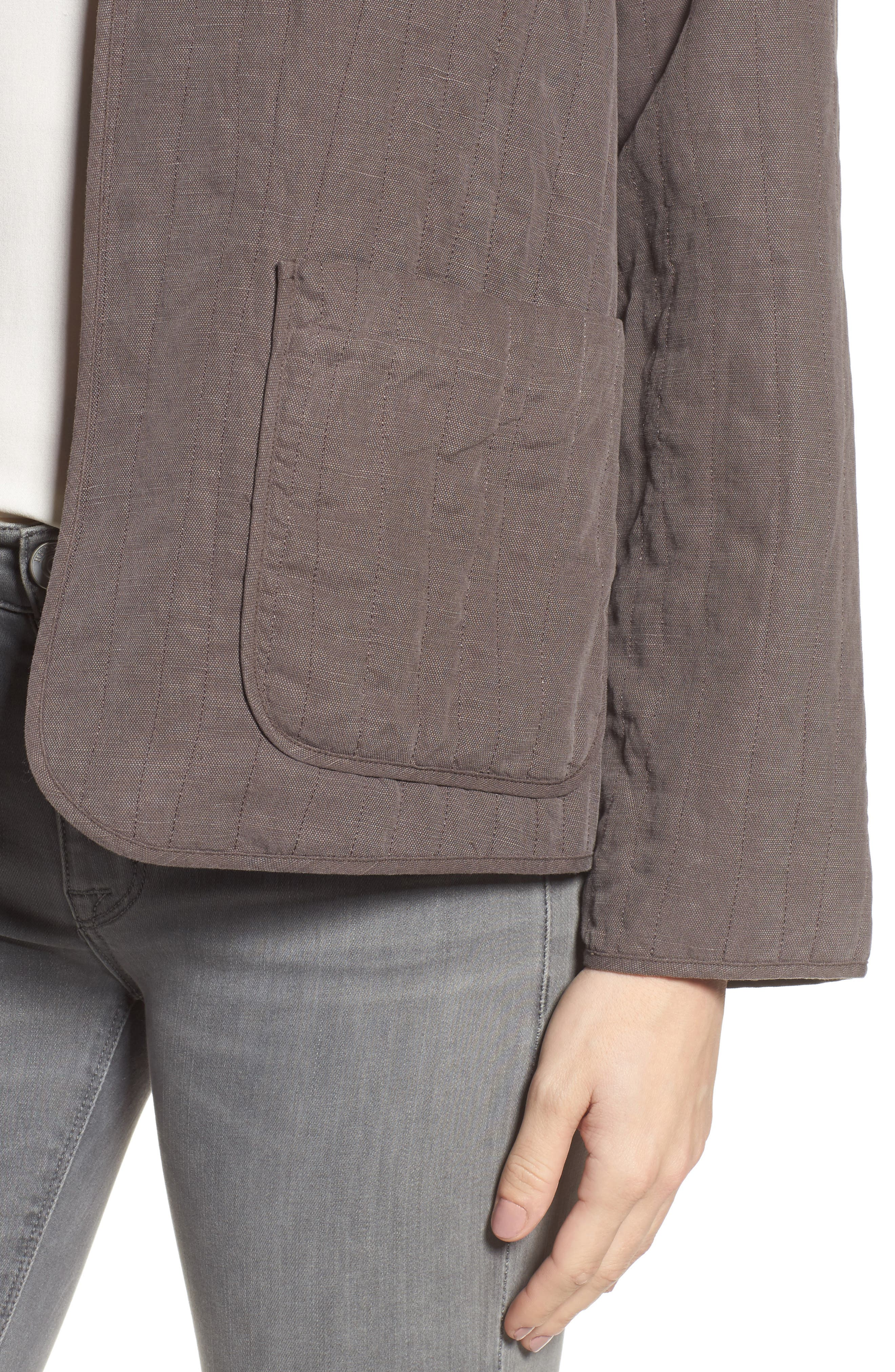 High Collar Quilted Jacket,                             Alternate thumbnail 10, color,