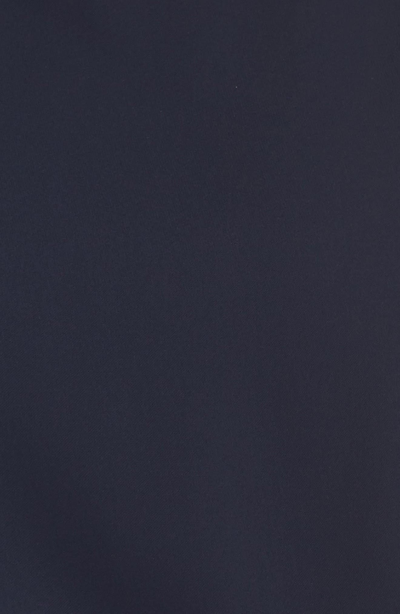Cap Sleeve Crepe Jumpsuit,                             Alternate thumbnail 5, color,                             NAVY