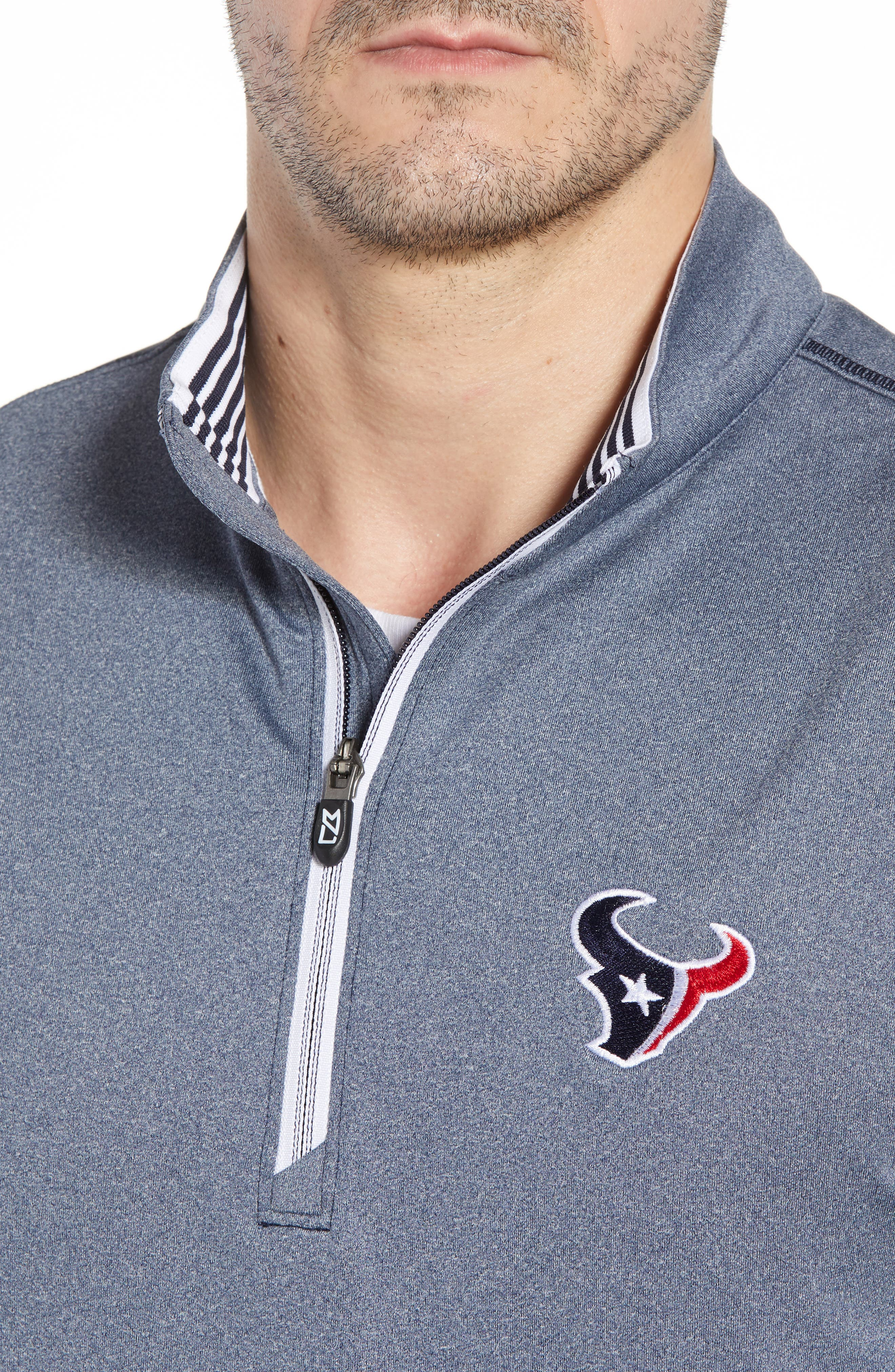 Endurance Houston Texans Regular Fit Pullover,                             Alternate thumbnail 4, color,                             LIBERTY NAVY HEATHER