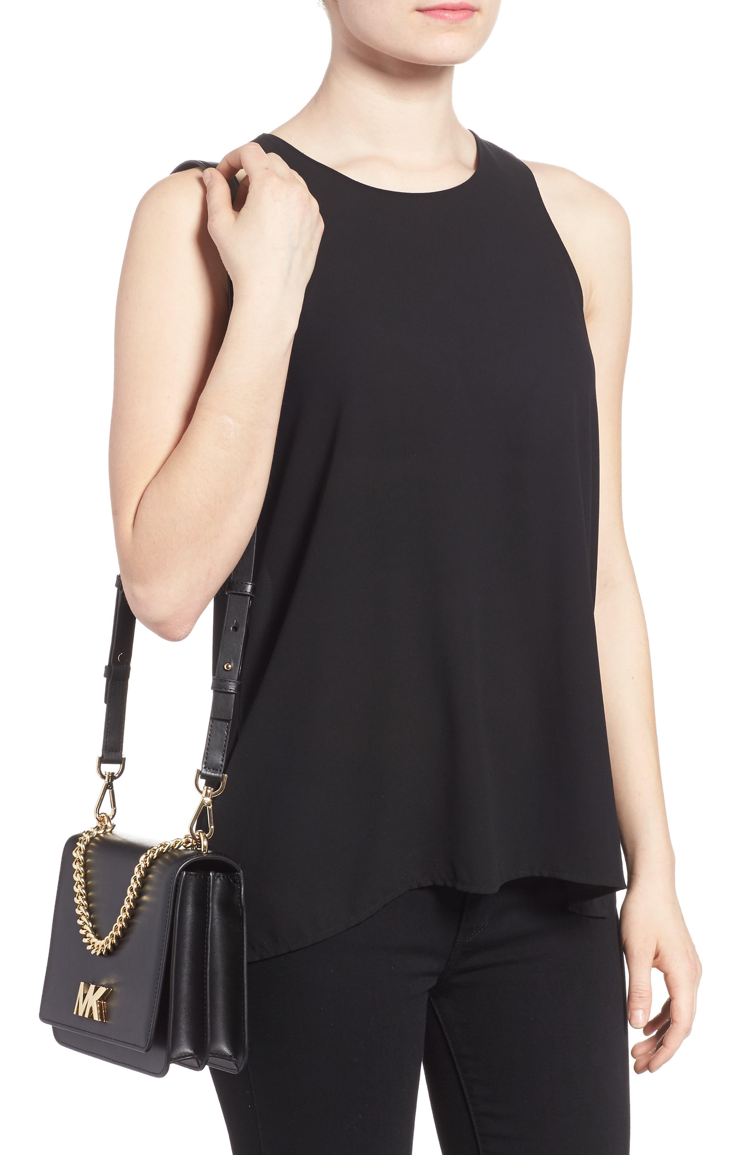 Large Mott Chain Swag Leather Shoulder Bag,                             Alternate thumbnail 2, color,                             001