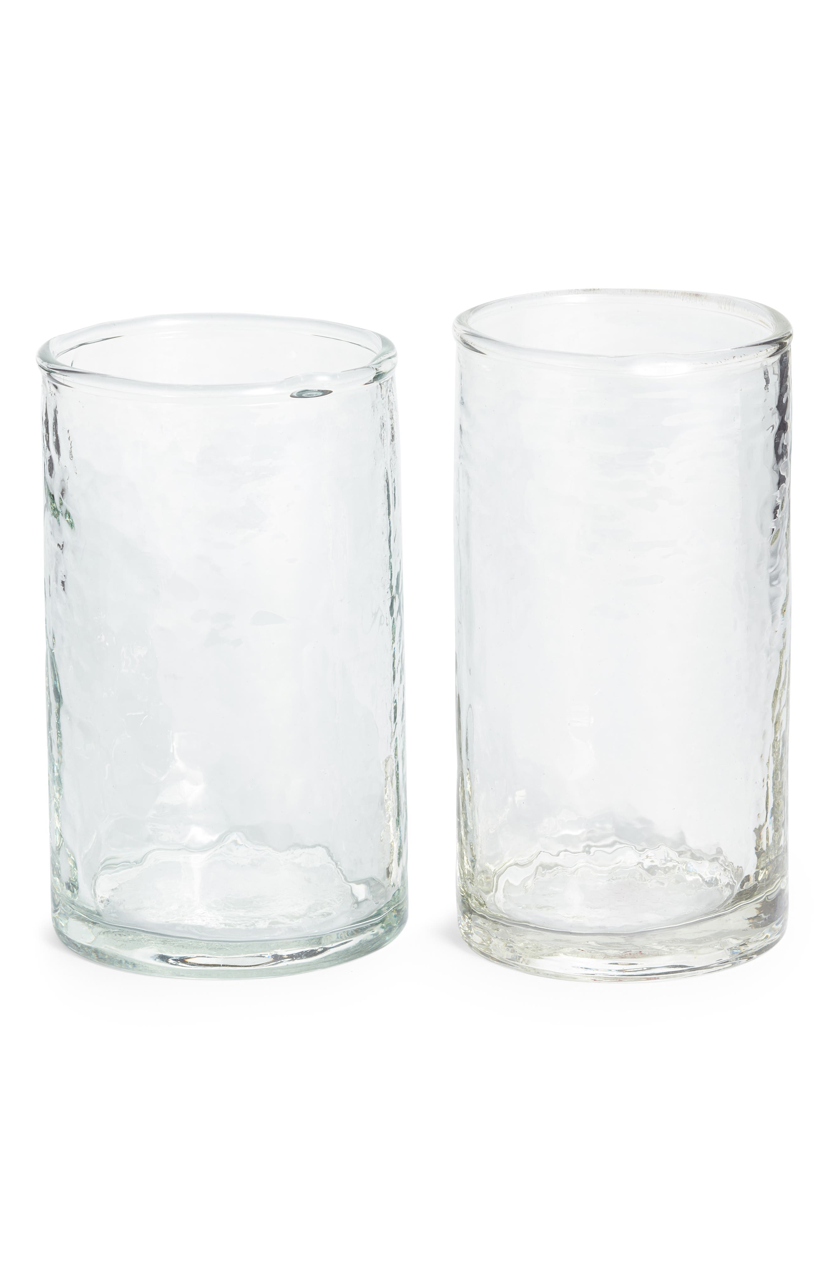 Set of Two Hammered Short Glasses,                             Main thumbnail 1, color,                             960