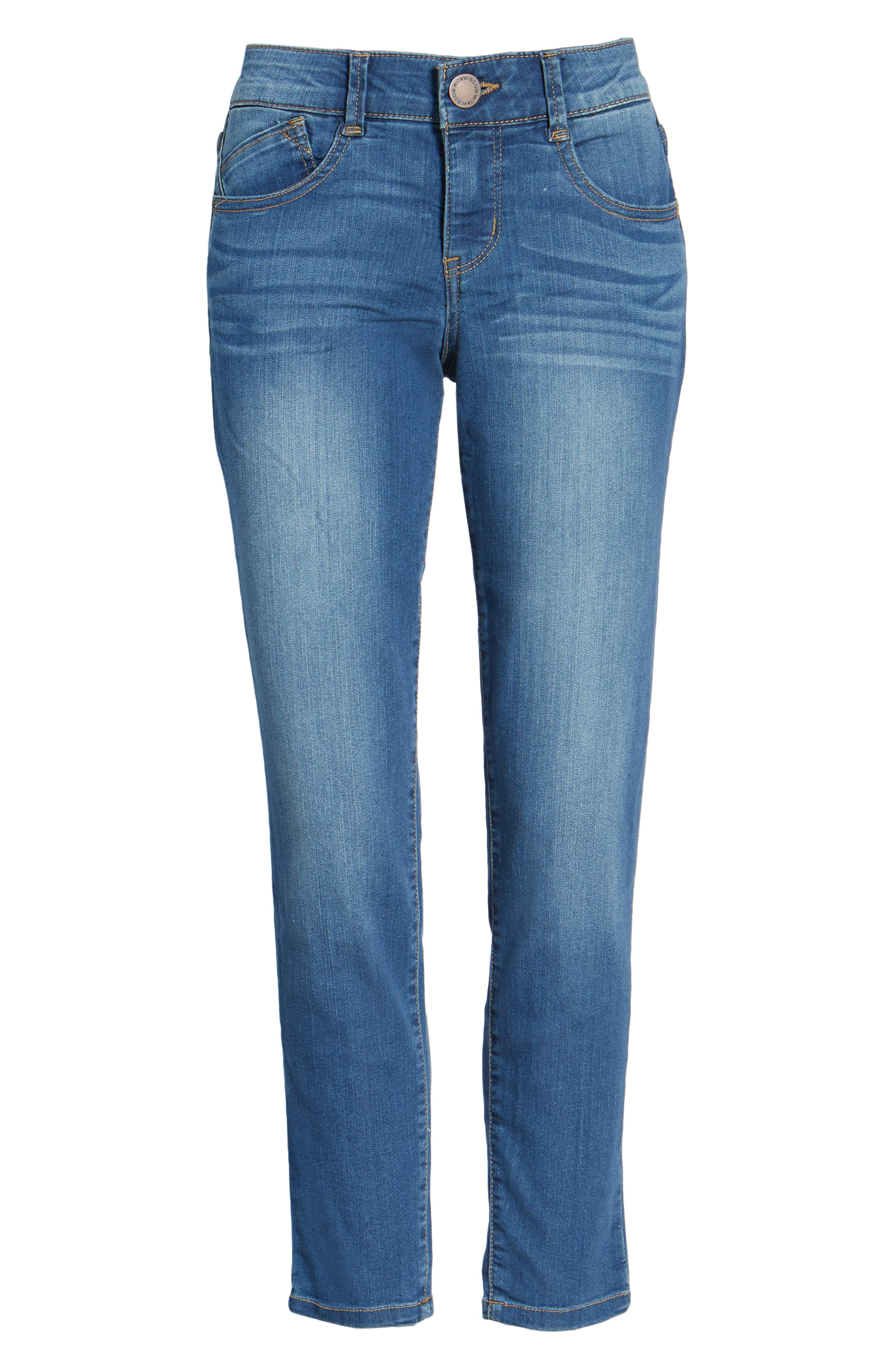 'Ab-solution' Stretch Ankle Skinny Jeans,                             Main thumbnail 1, color,                             421