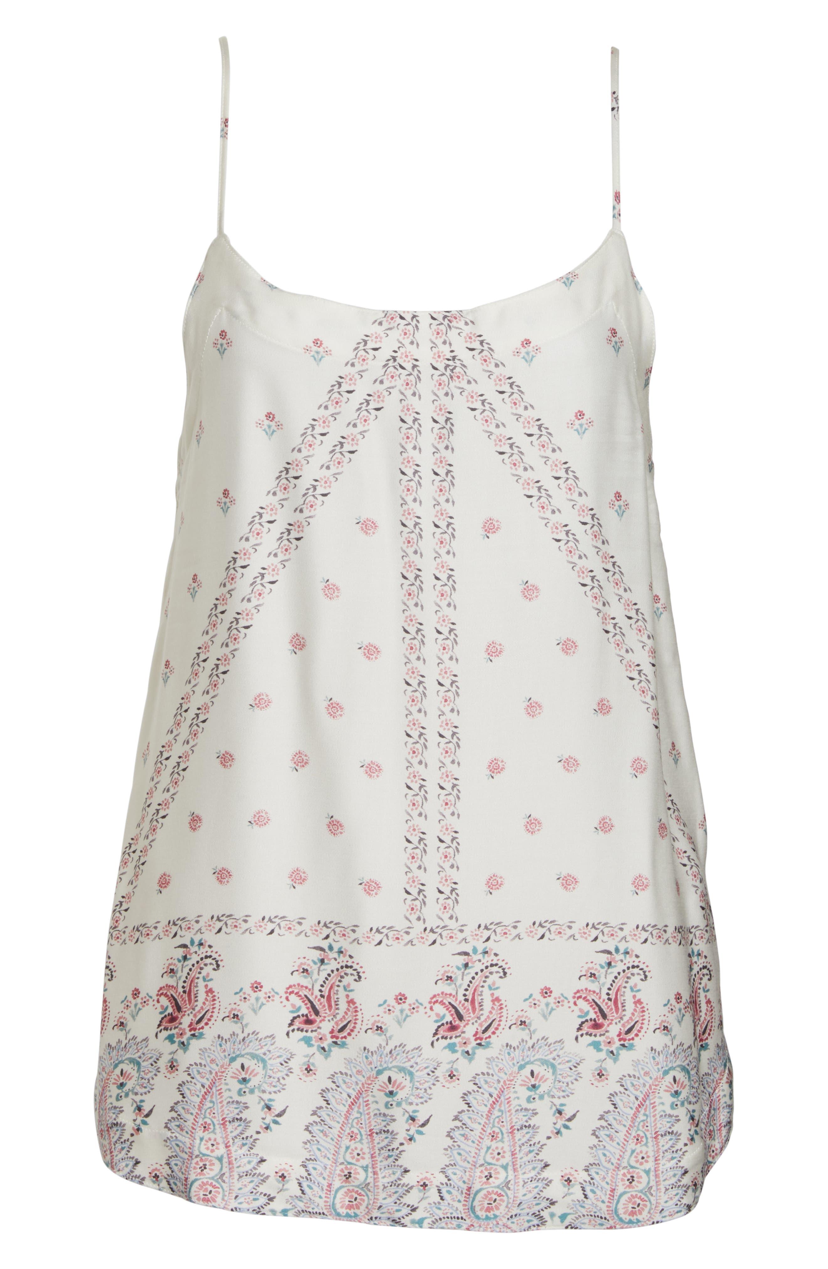 Paisley Park Pajama Camisole,                             Alternate thumbnail 6, color,                             ANTIQUE WHITE