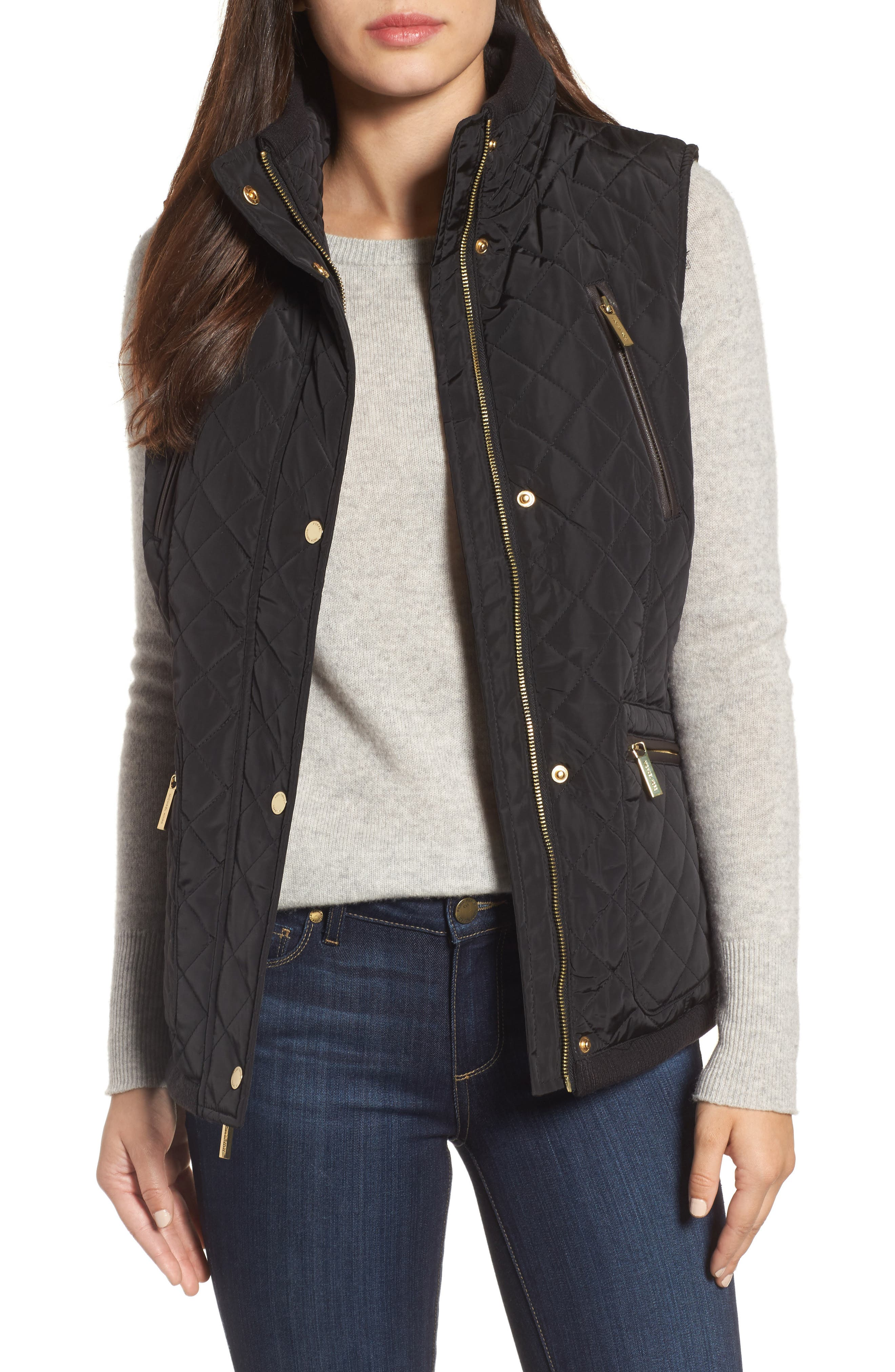 Diamond Quilted Vest,                         Main,                         color,