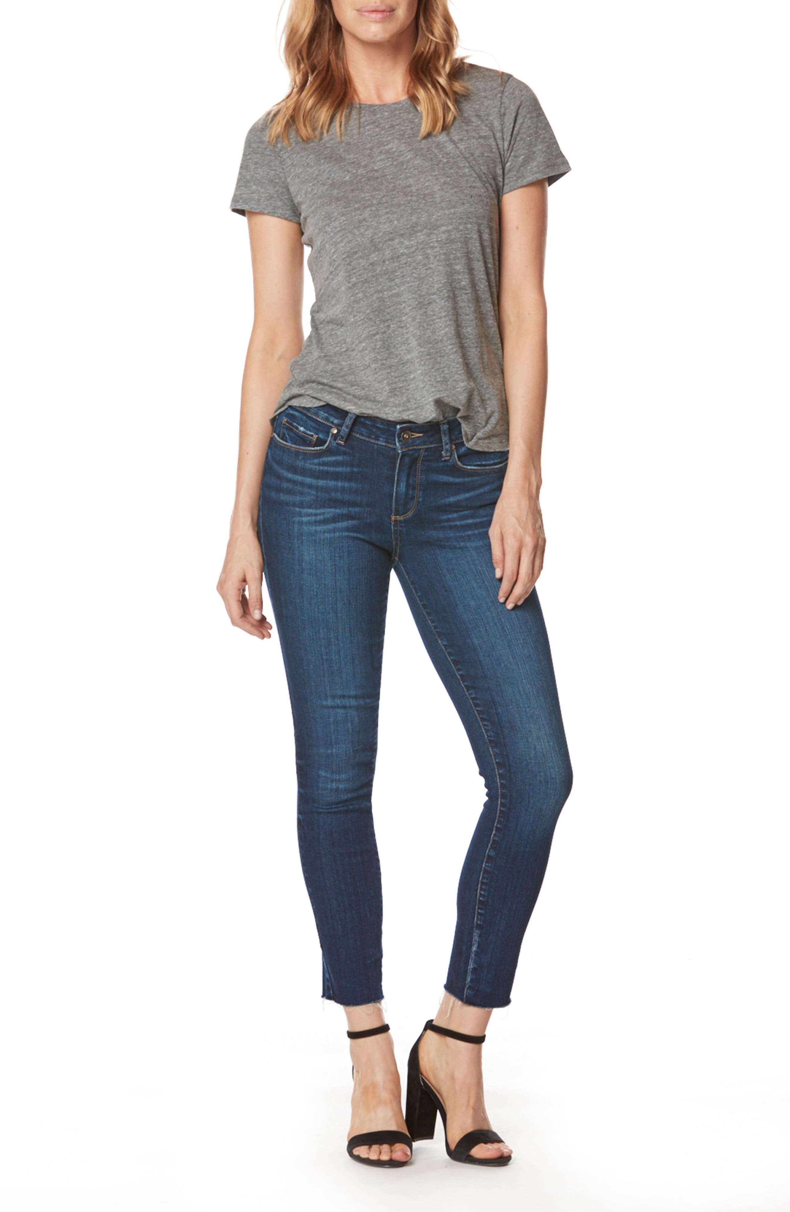 Skyline Ankle Skinny Jeans,                             Alternate thumbnail 3, color,                             400