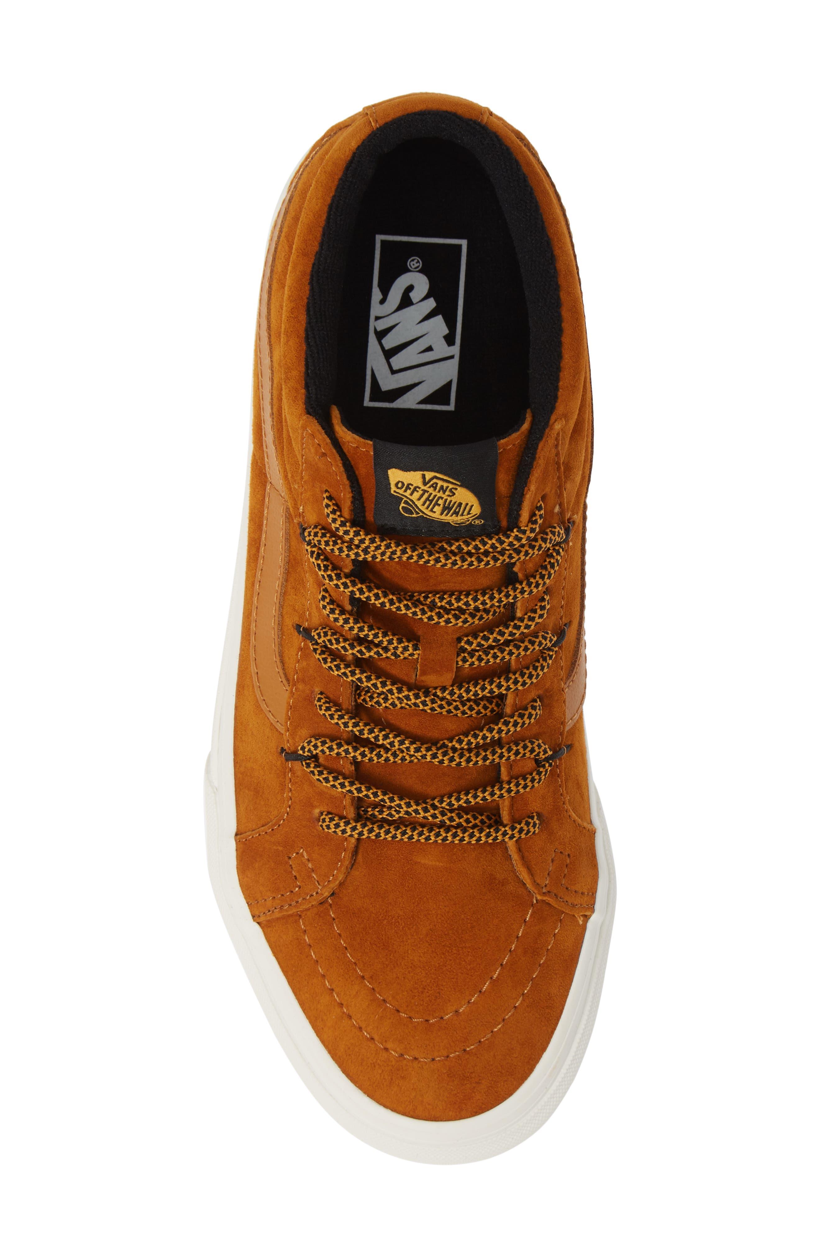 SK8-Hi Mid Reissue Ghillie MTE Sneaker,                             Alternate thumbnail 5, color,                             BROWN/ MARSHMALLOW