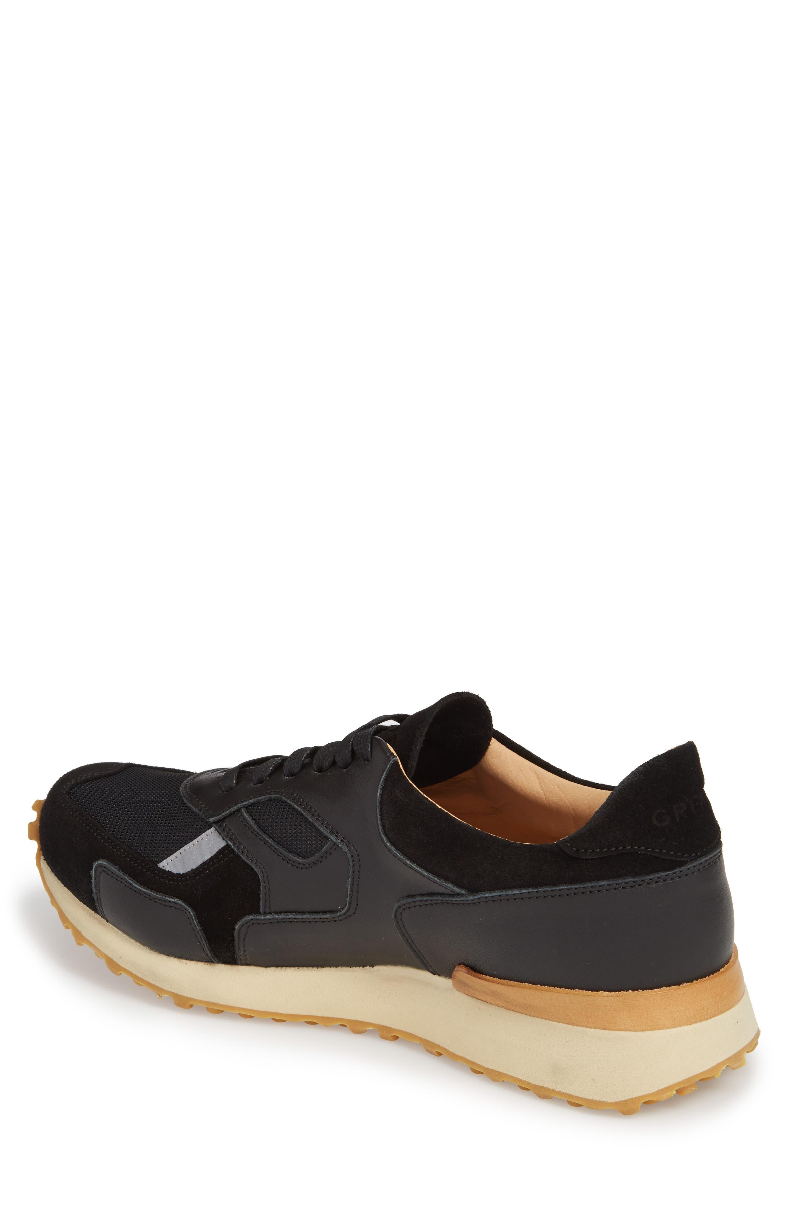 The Pronto Sneaker,                             Alternate thumbnail 2, color,                             BLACK LEATHER