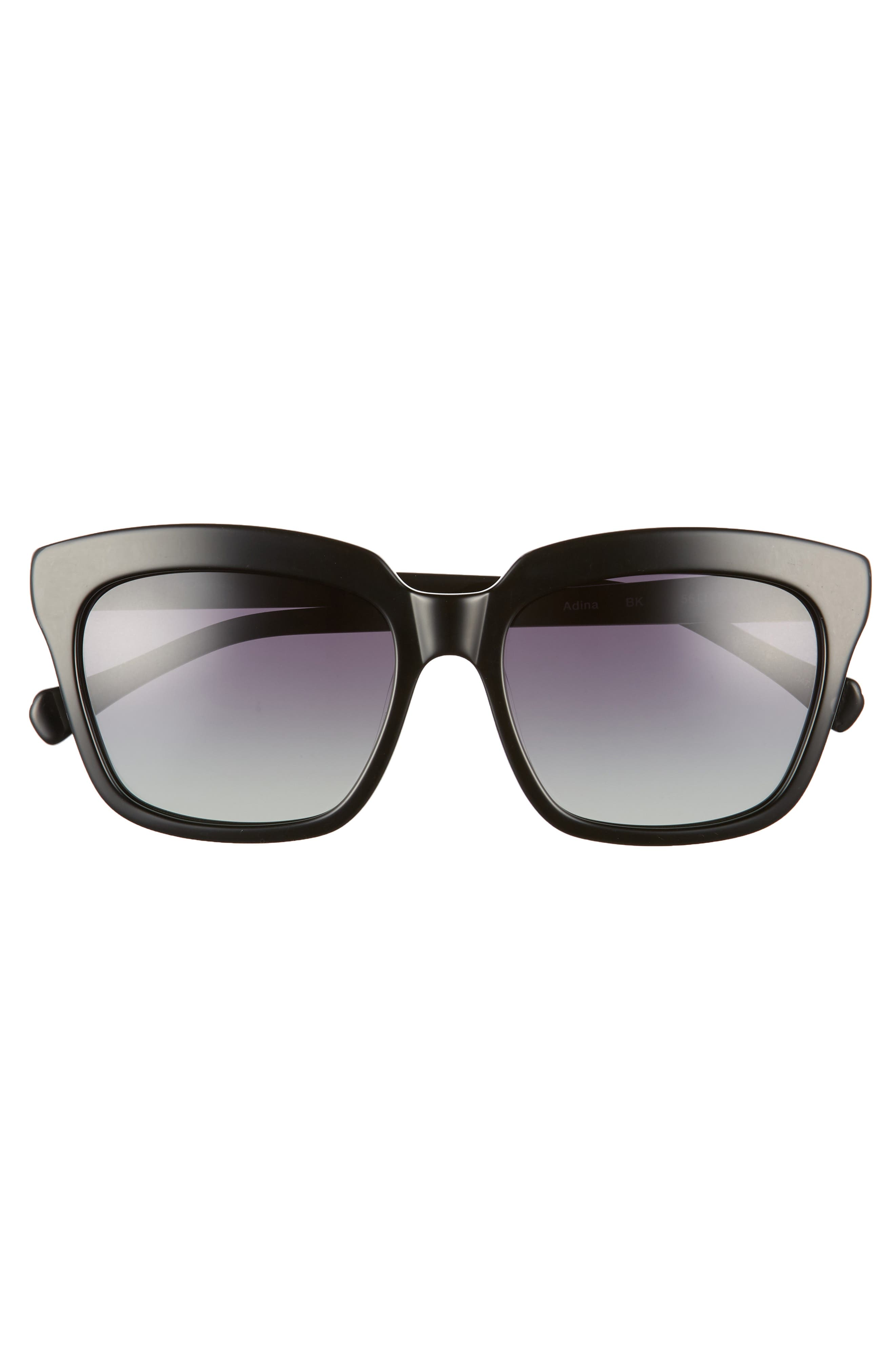 Adina 56mm Polarized Sunglasses,                             Alternate thumbnail 3, color,                             001