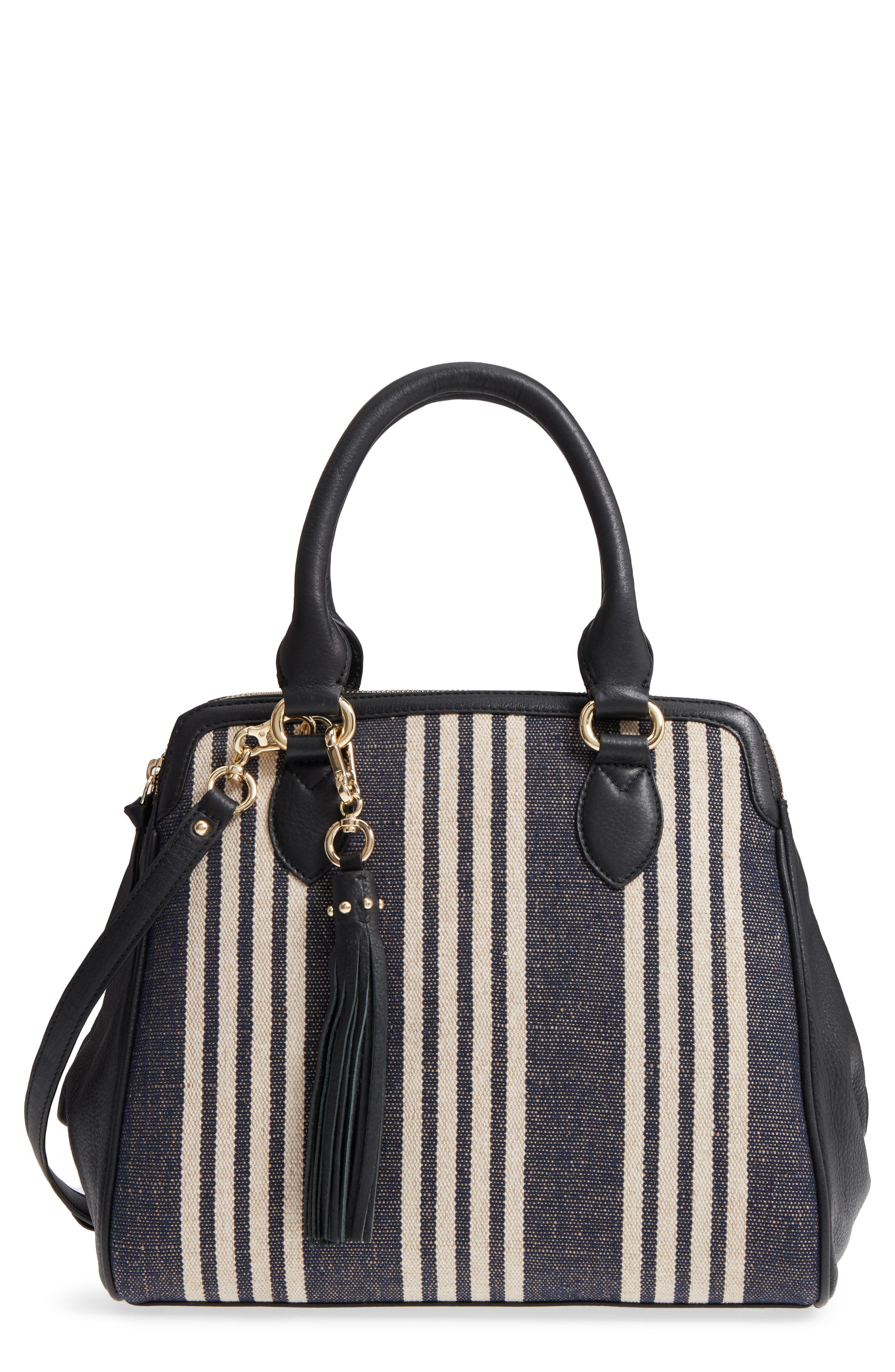 Céline Dion Forte Canvas Satchel,                             Main thumbnail 1, color,