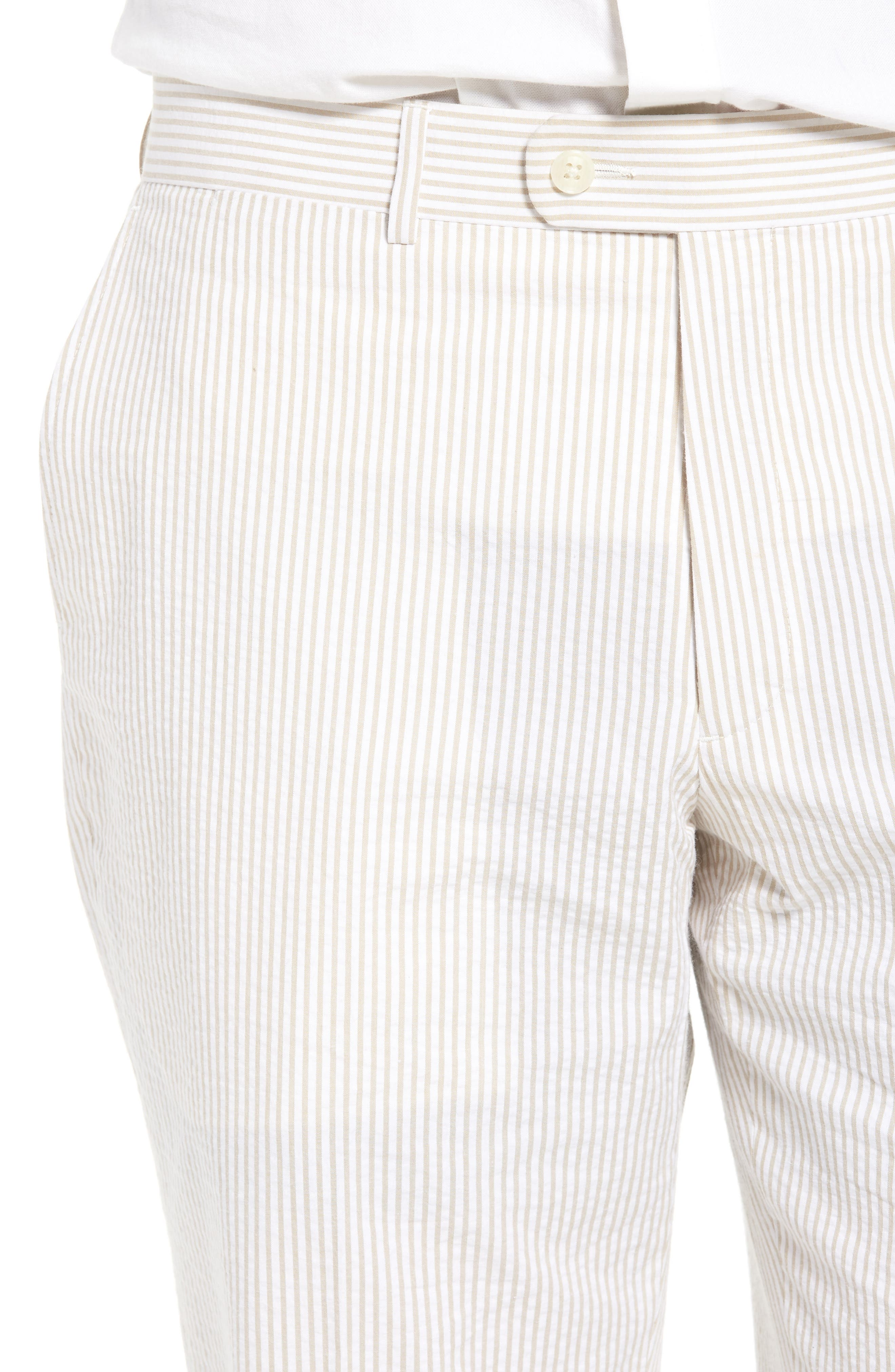 Andrew AIM Flat Front Seersucker Trousers,                             Alternate thumbnail 4, color,                             250