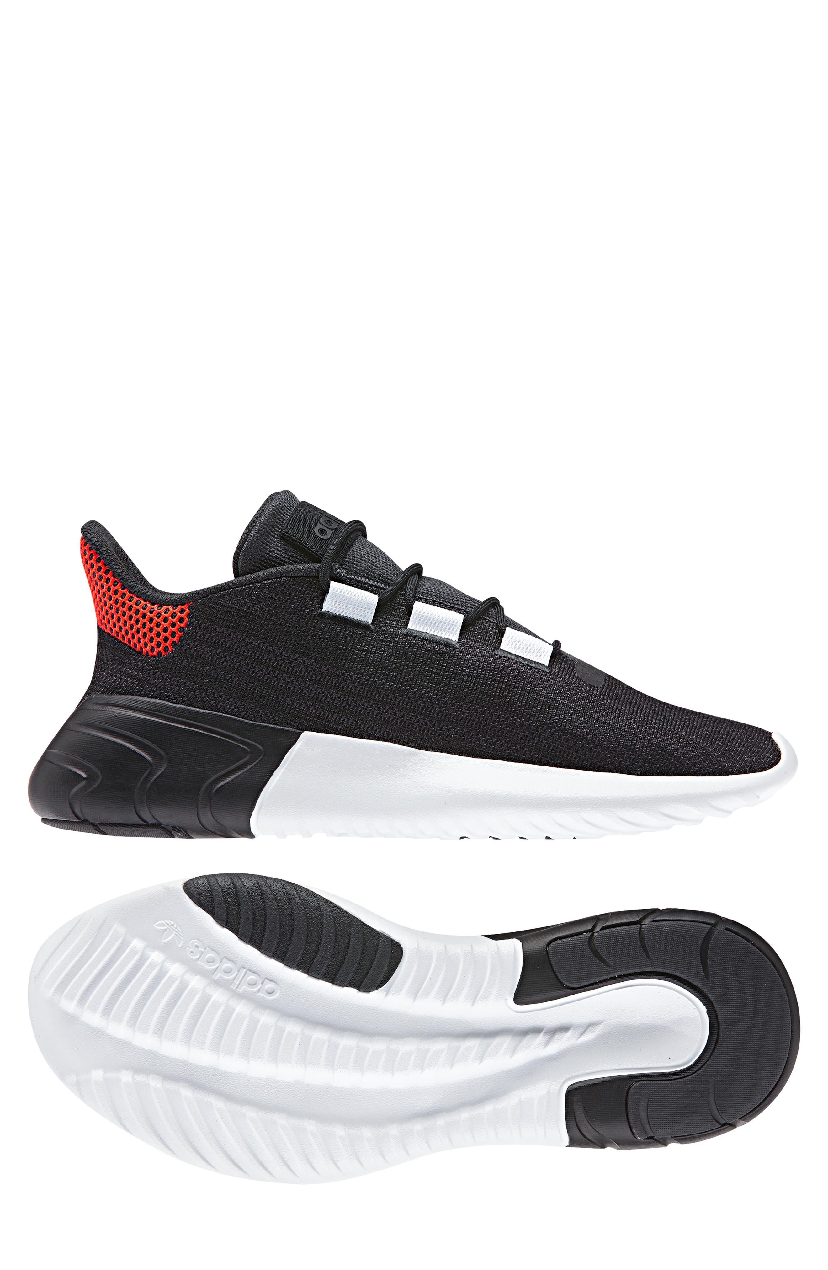Tubular Dusk Primeknit Sneaker,                             Alternate thumbnail 10, color,                             WHITE/ BLACK/ GREY