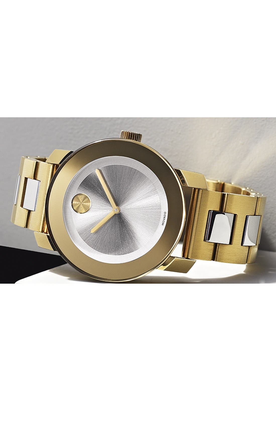 'Bold' Round Bracelet Watch, 36mm,                             Alternate thumbnail 4, color,                             710