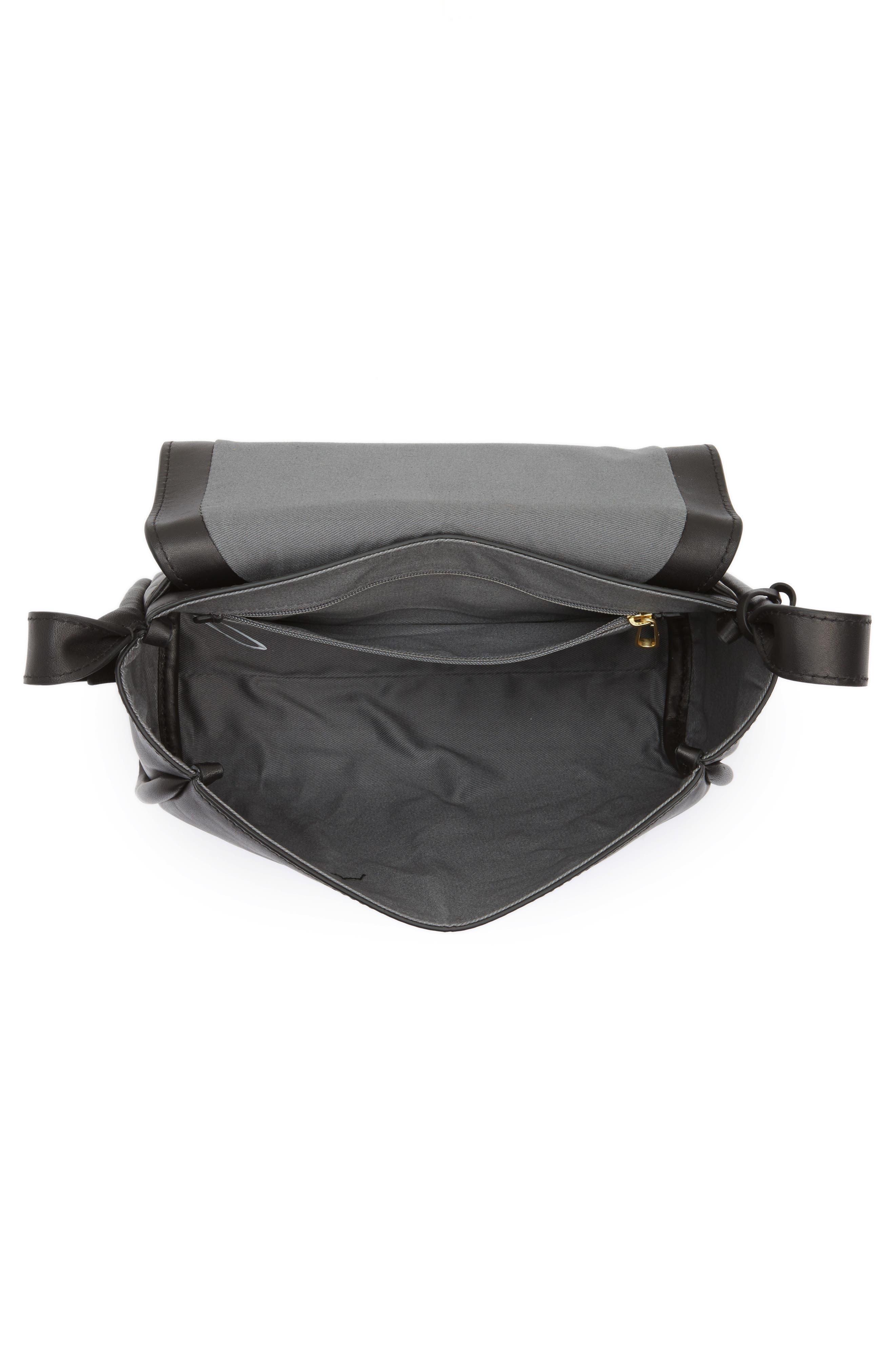 Sylvi Leather Crossbody Bag,                             Alternate thumbnail 4, color,                             001