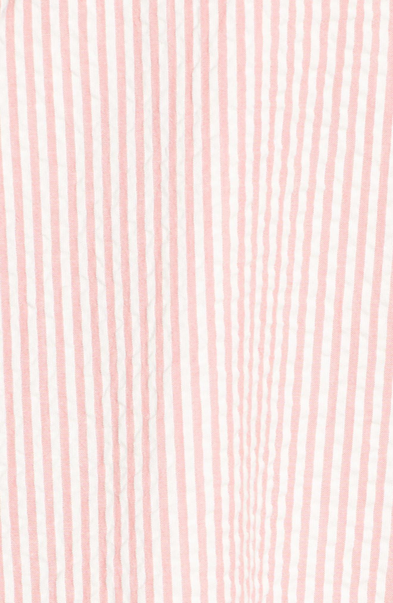 Tie Front Strapless Dress,                             Alternate thumbnail 11, color,