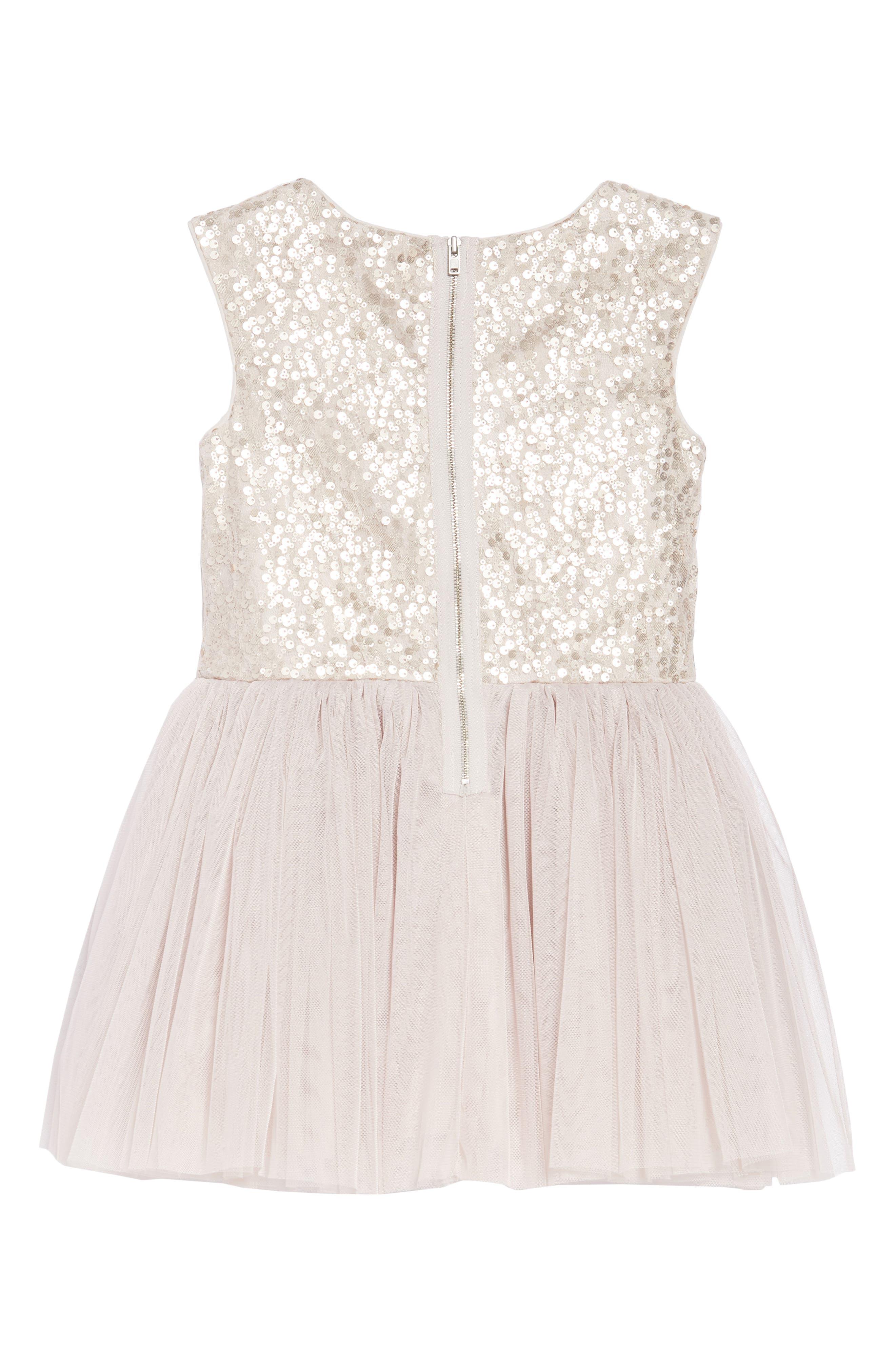 Sequin & Tulle Dress,                             Alternate thumbnail 2, color,                             650