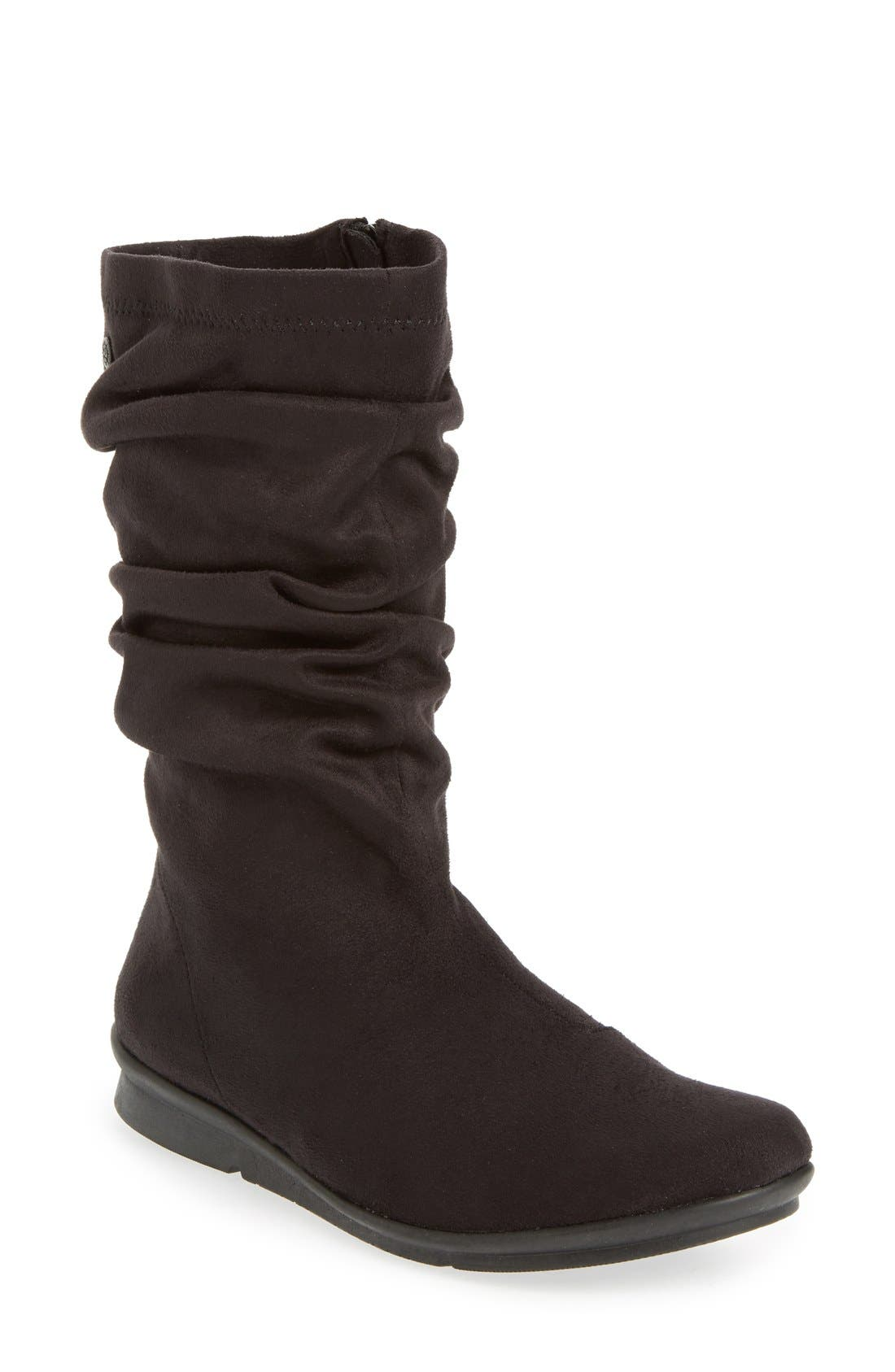 BUSSOLA,                             Concord Ruched Boot,                             Main thumbnail 1, color,                             001