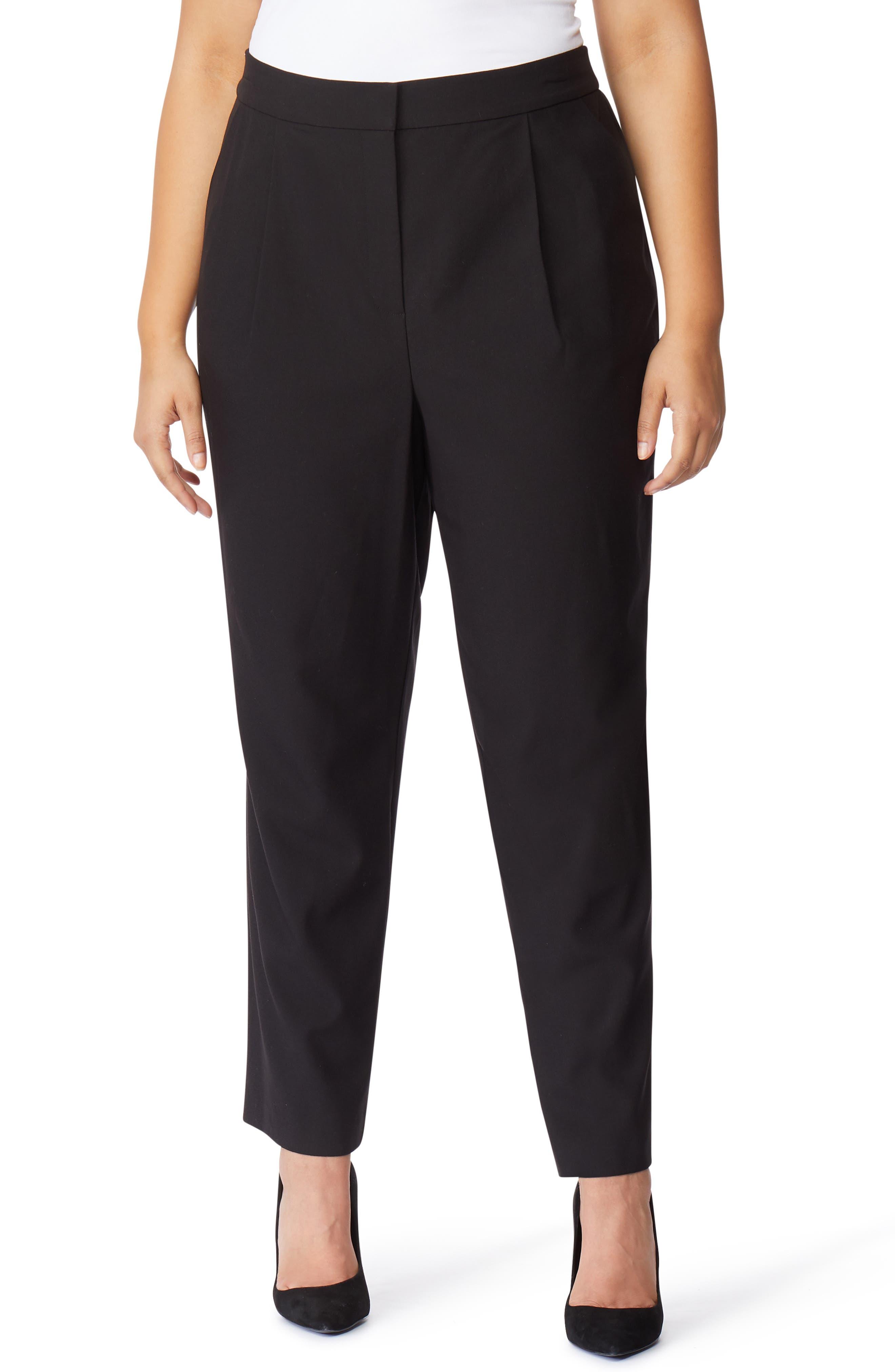 High Waist Pants,                             Main thumbnail 1, color,                             BLACK BEAUTY