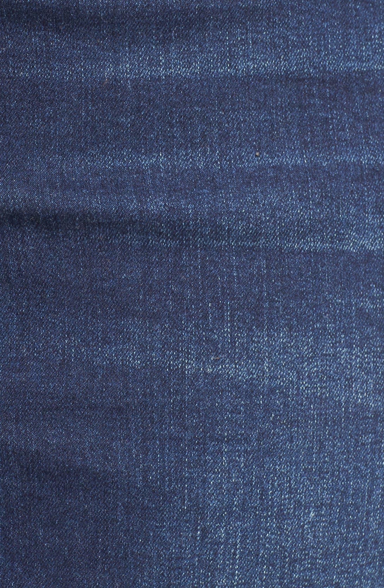 Pin Up Denim Skirt,                             Alternate thumbnail 6, color,