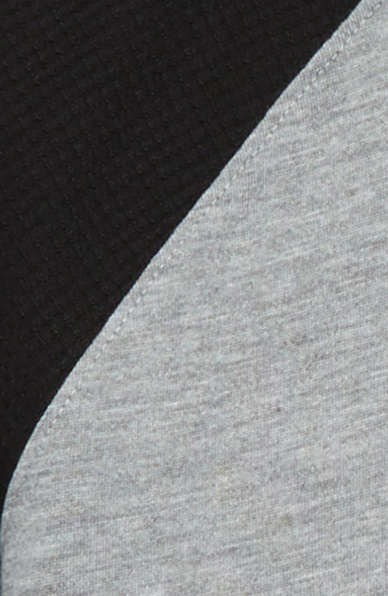 Fitted Pajama T-Shirt,                             Alternate thumbnail 2, color,                             GREY MEDIUM HEATHER- BLACK