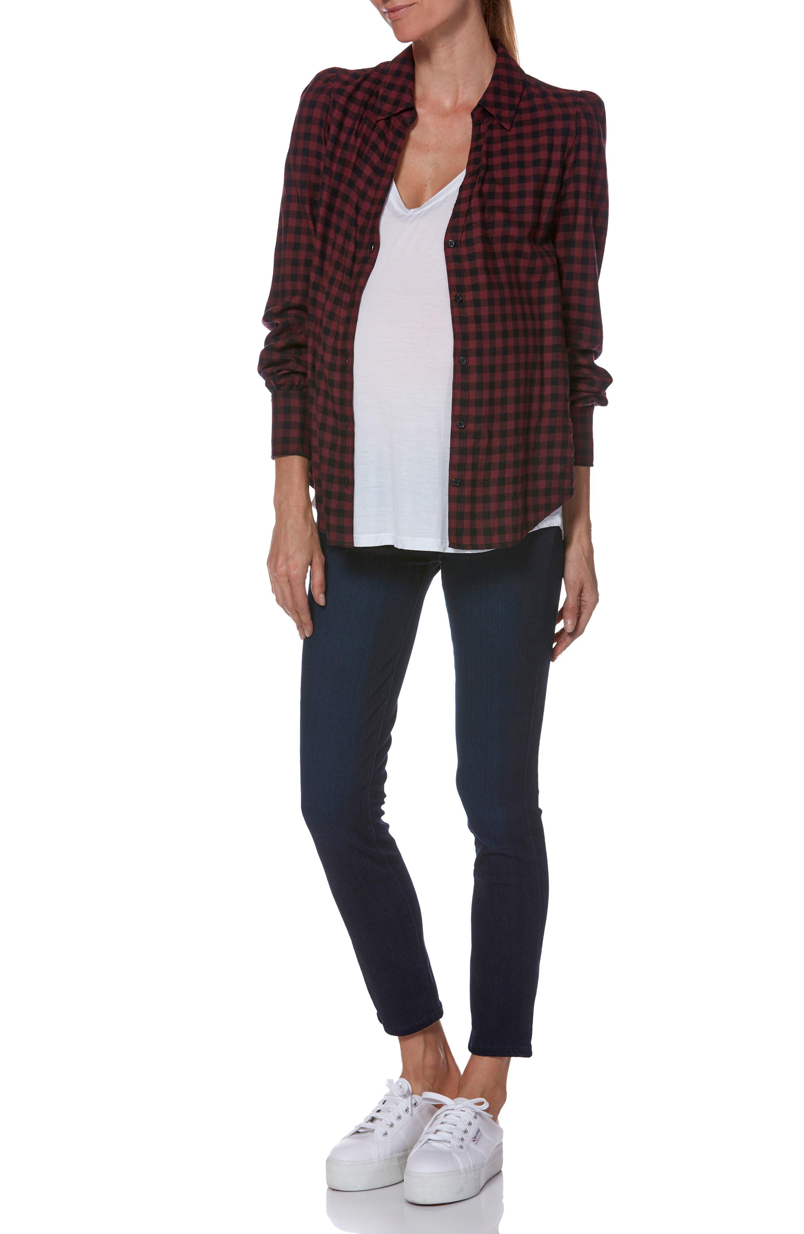 PAIGE,                             Transcend - Verdugo Ultra Skinny Maternity Jeans,                             Alternate thumbnail 5, color,                             LANA