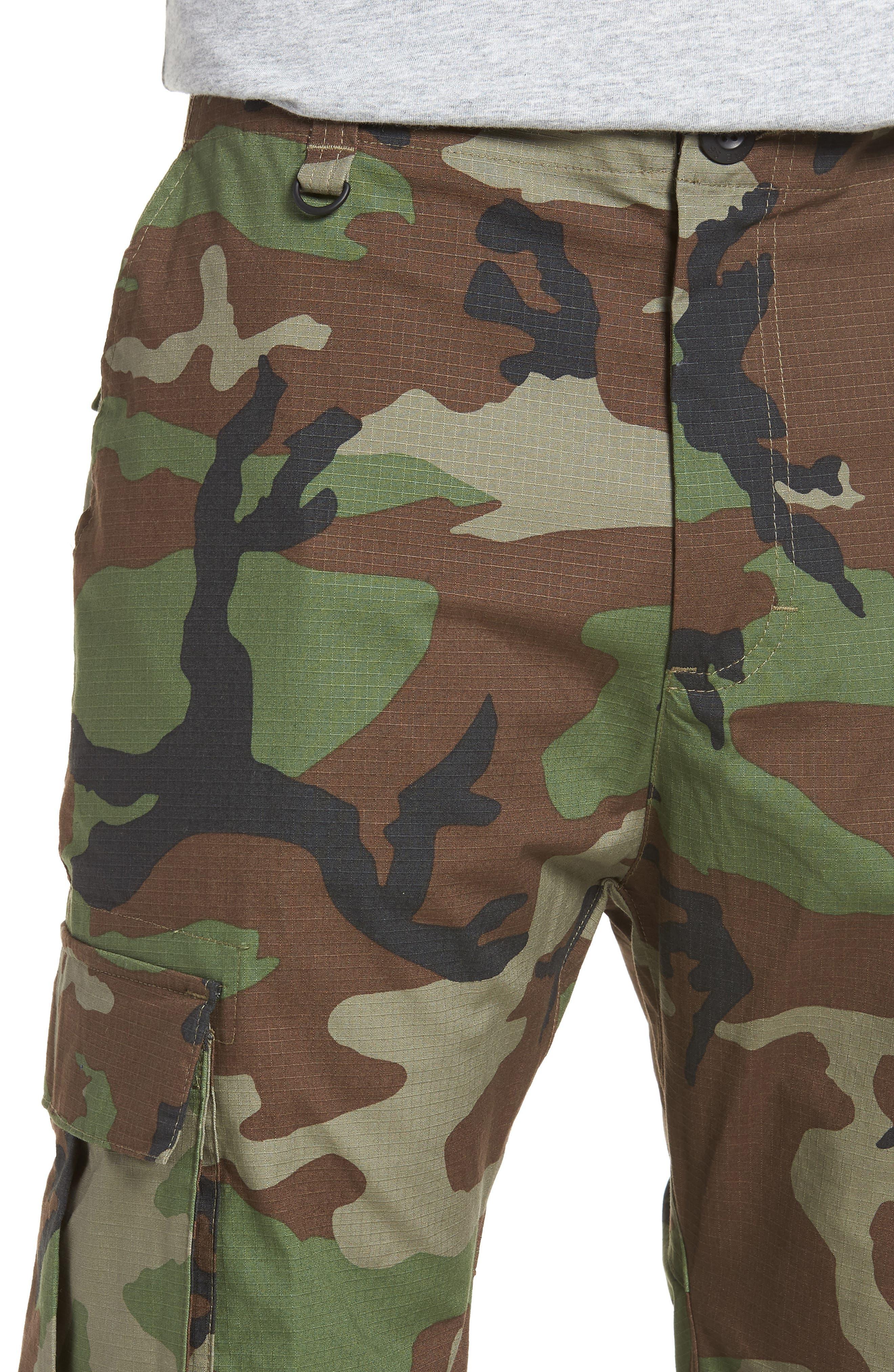 Flex Cargo Pants,                             Alternate thumbnail 4, color,                             MEDIUM OLIVE