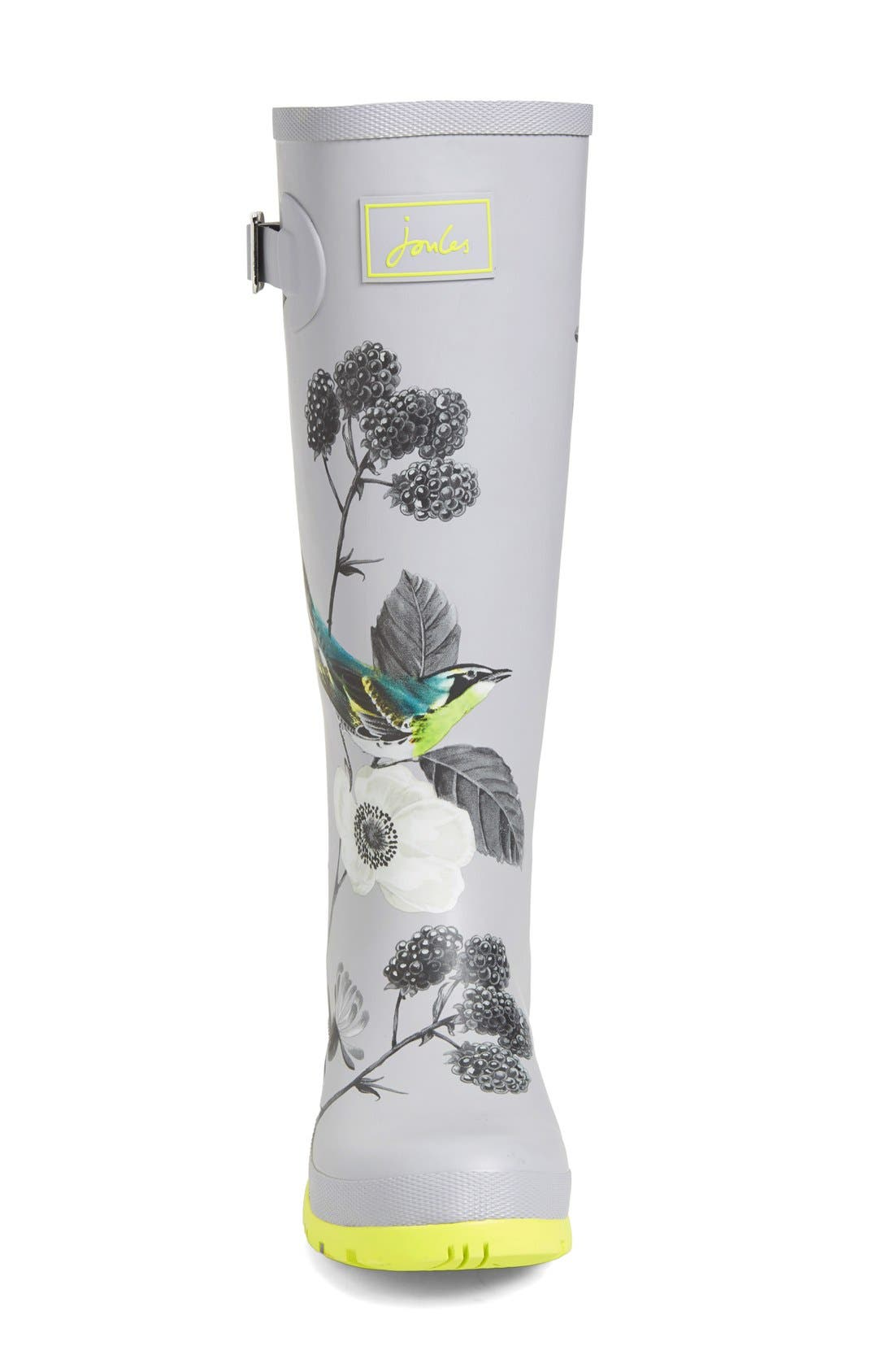 'Welly' Print Rain Boot,                             Alternate thumbnail 80, color,