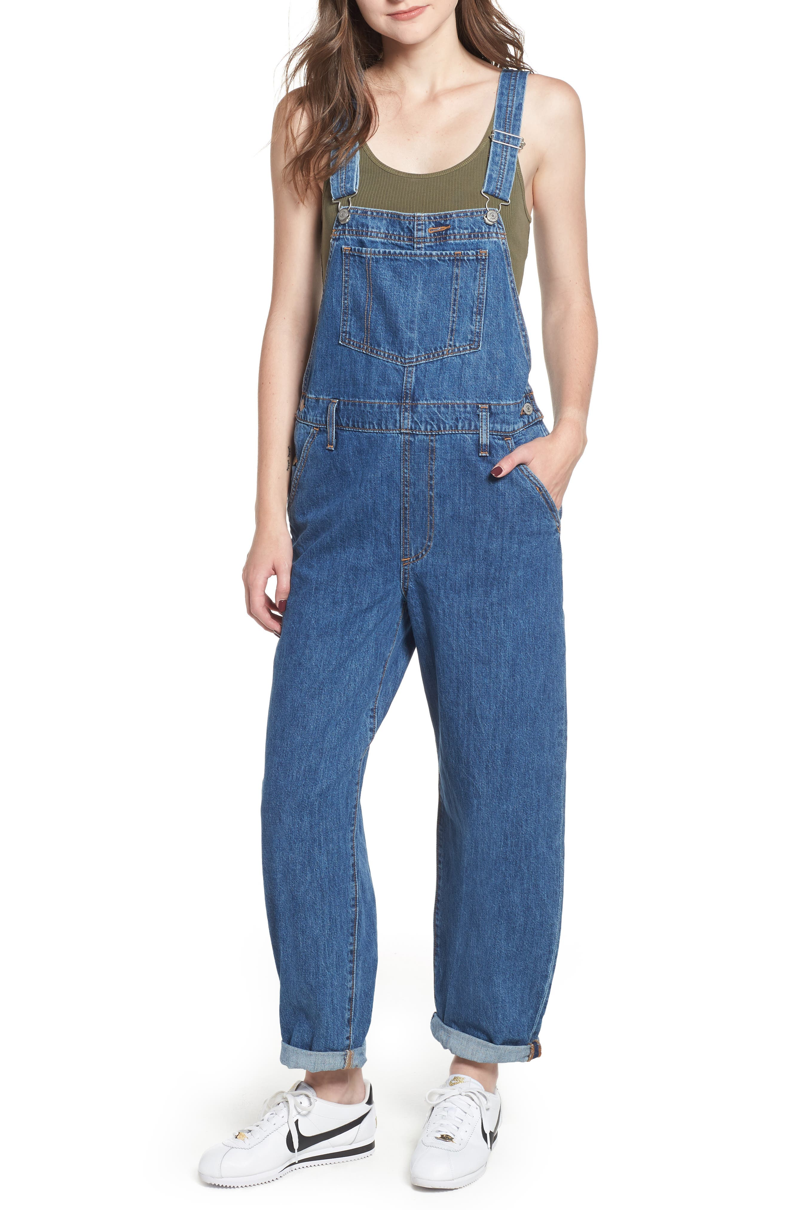 Baggy Overalls,                             Main thumbnail 1, color,                             401
