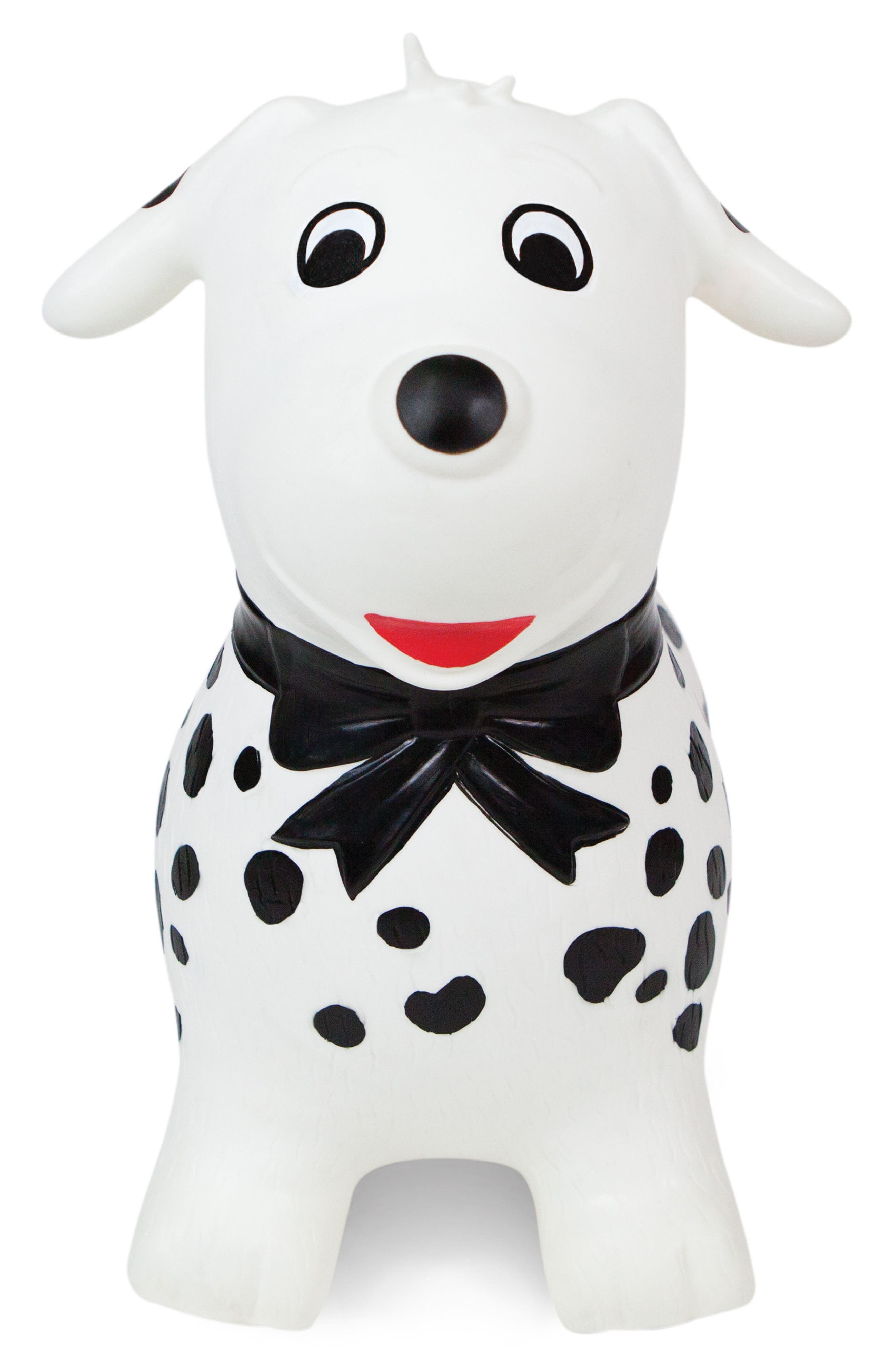 Spots Bouncy Ride-On Dog Toy,                         Main,                         color, WHITE/ BLACK