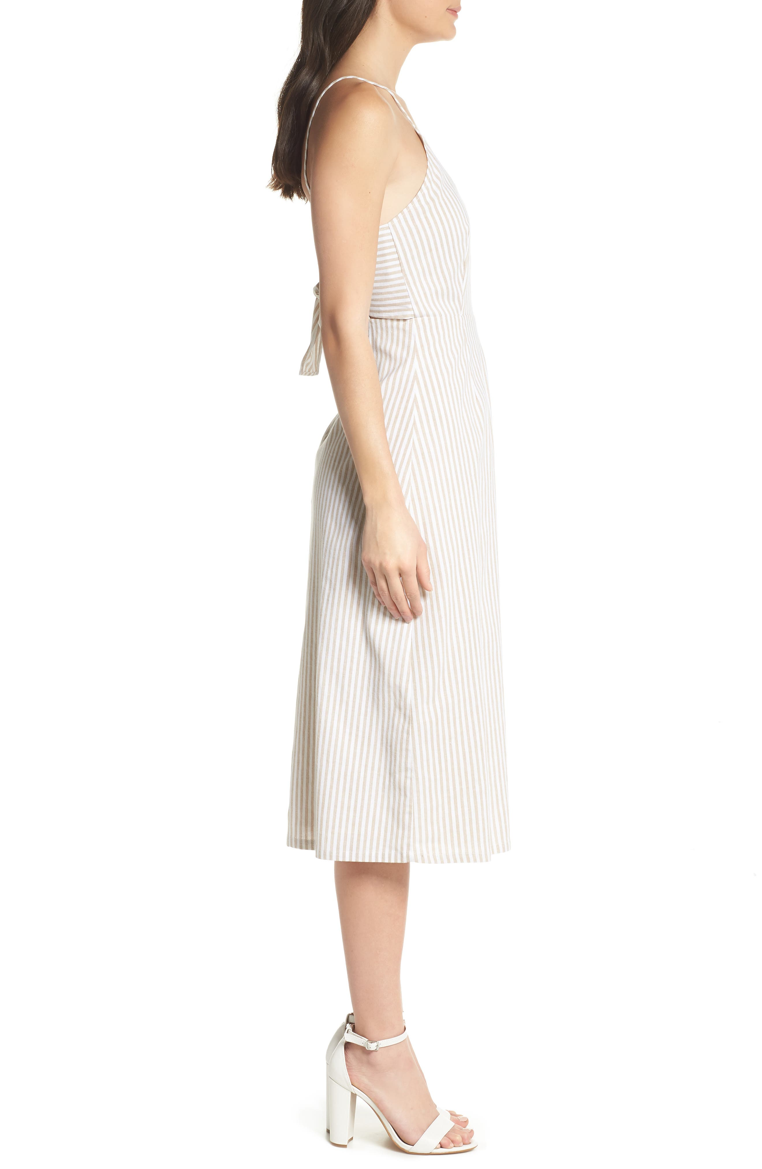Halter Neck Midi Dress,                             Alternate thumbnail 3, color,                             250