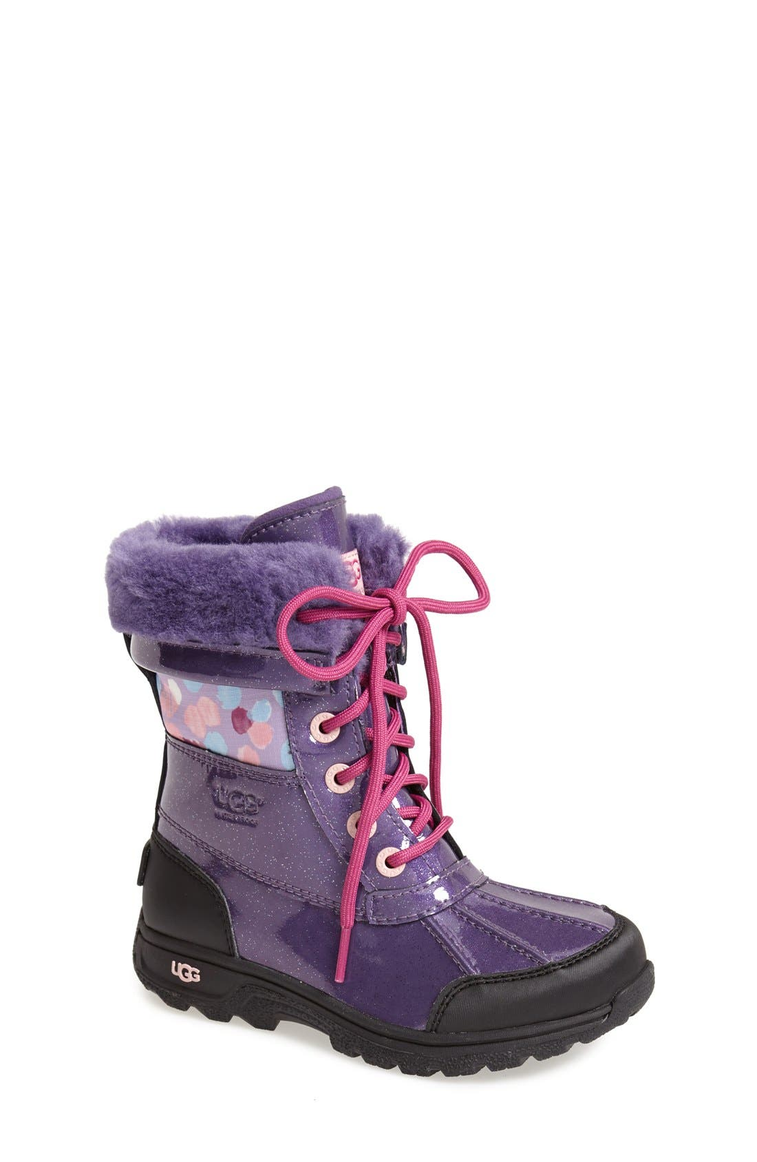 'Butte II' Waterproof Leather Boot,                             Main thumbnail 4, color,