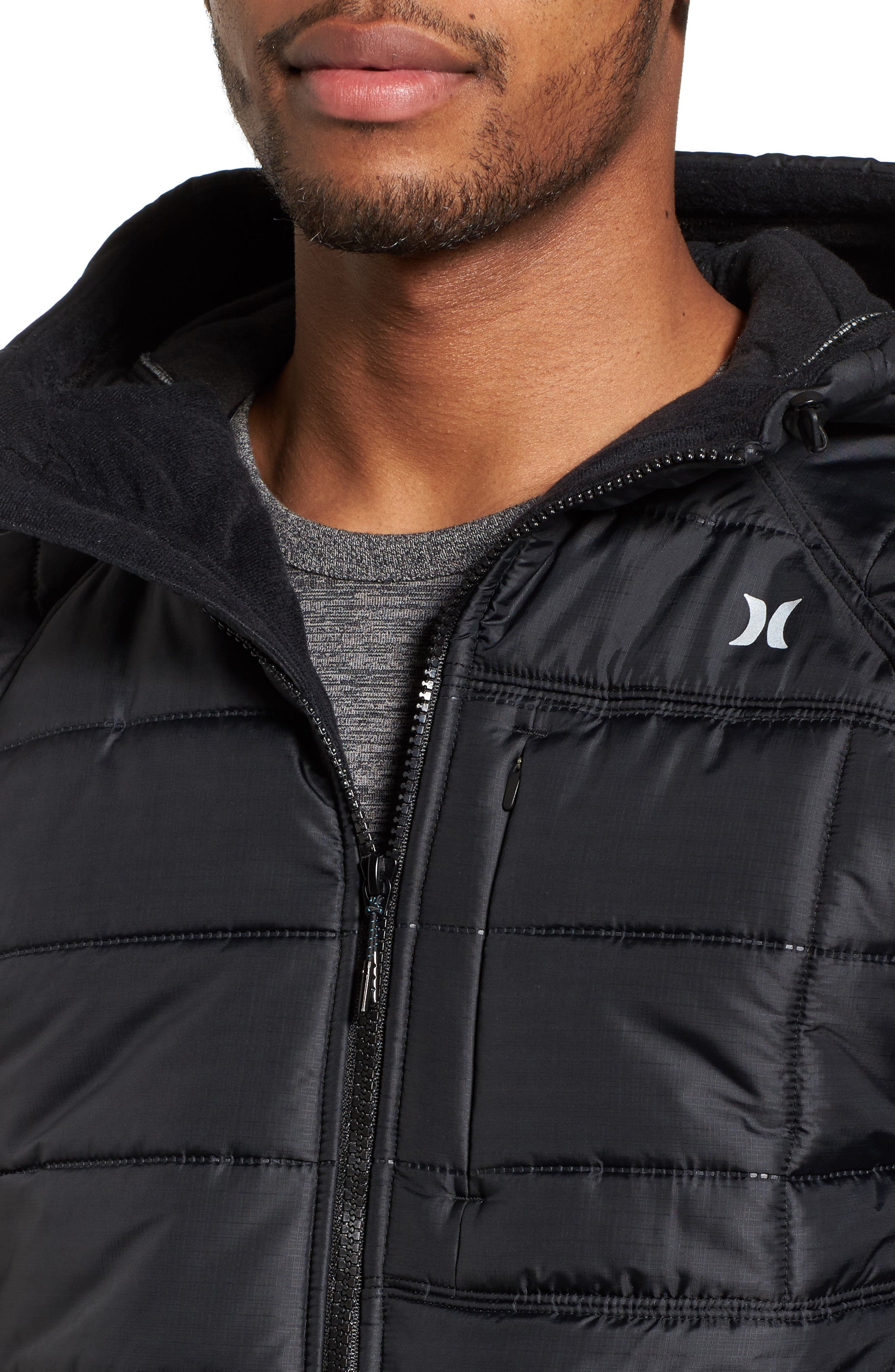 Protect Max Water-Repellent Quilted Jacket,                             Alternate thumbnail 4, color,                             010