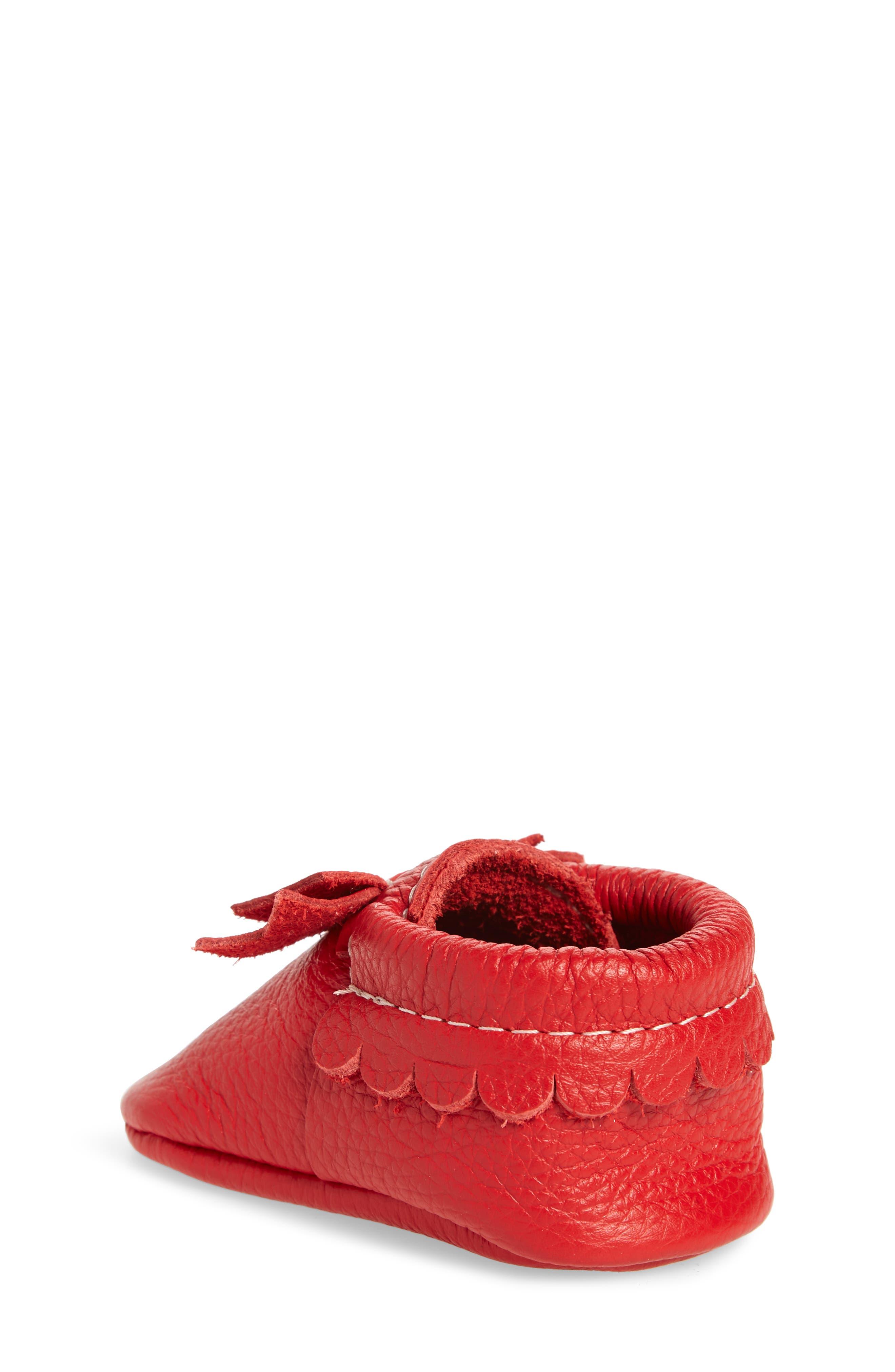 Santa Baby Moccasin,                             Alternate thumbnail 2, color,                             RED