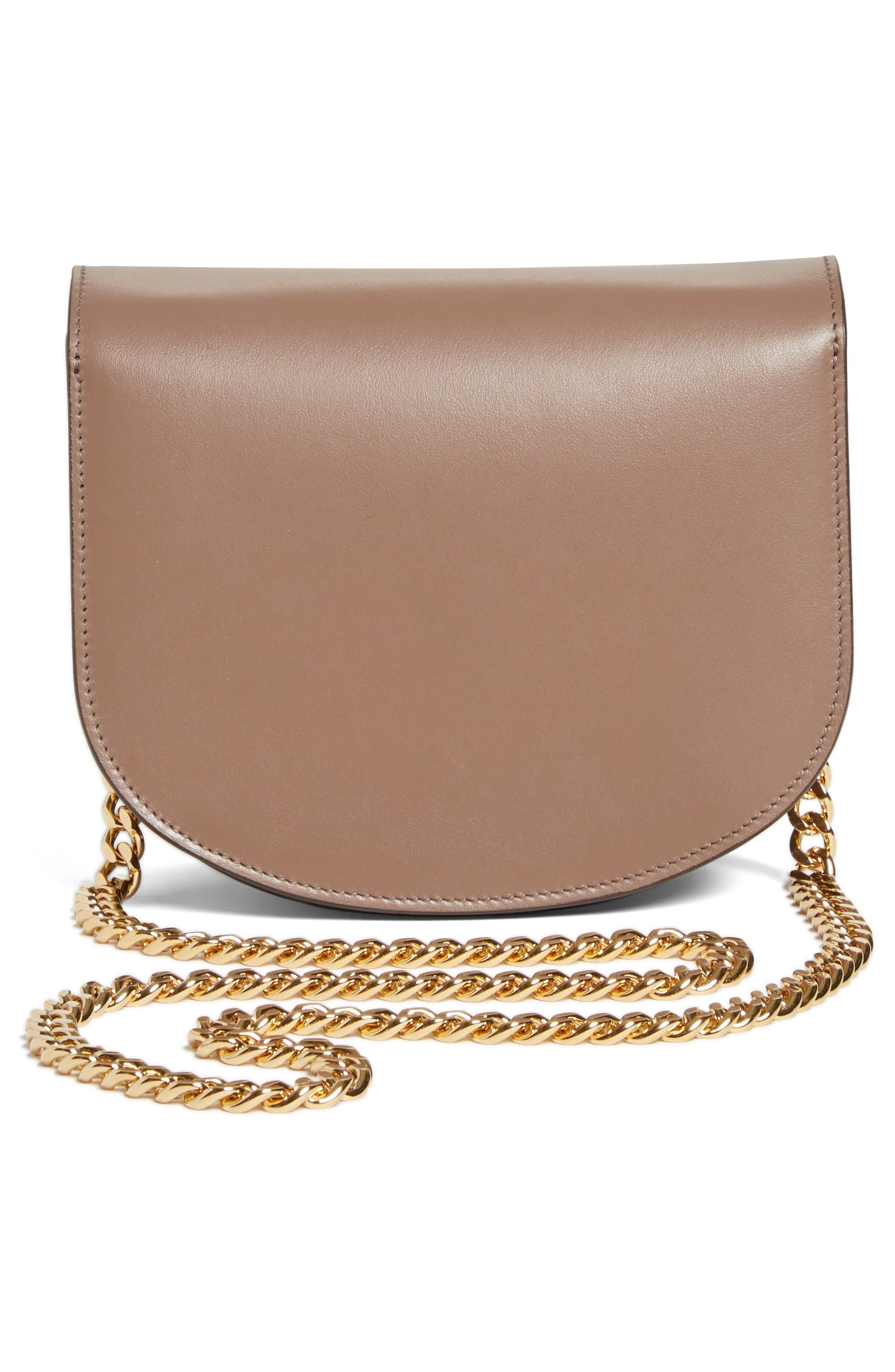 Medium Box Leather Shoulder Bag,                             Alternate thumbnail 3, color,                             200
