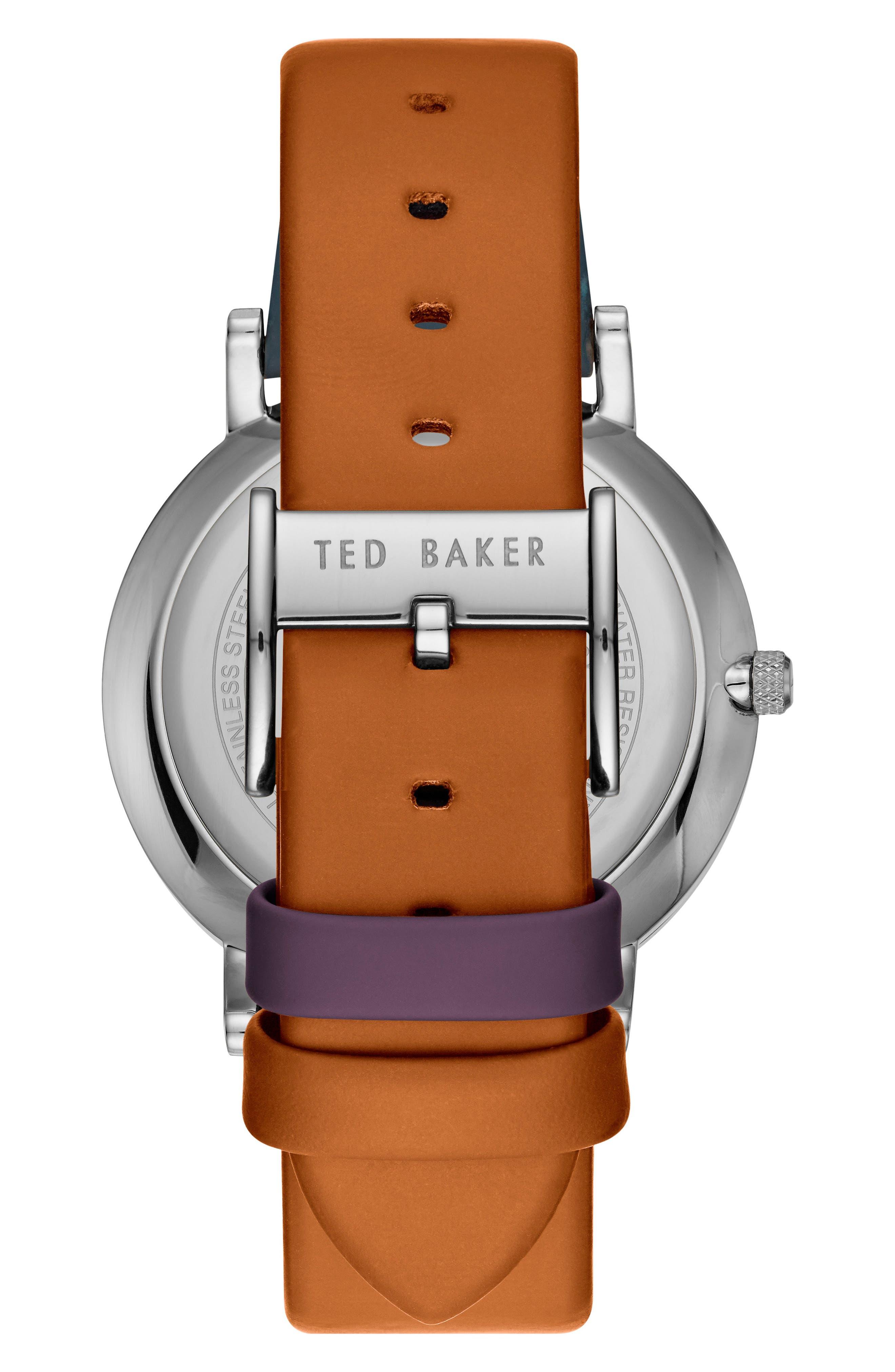 Samuel Slim Leather Strap Watch, 40mm,                             Alternate thumbnail 2, color,                             020