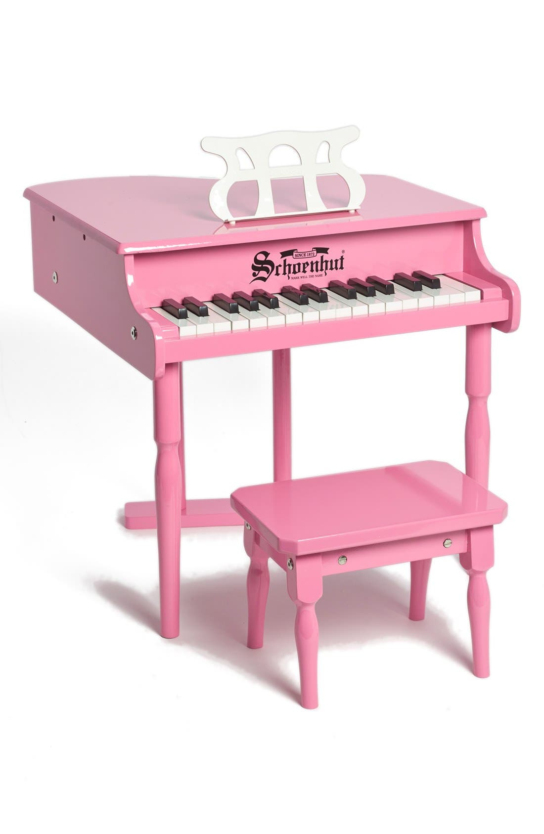 'Classic' Baby Grand Piano,                         Main,                         color, PINK