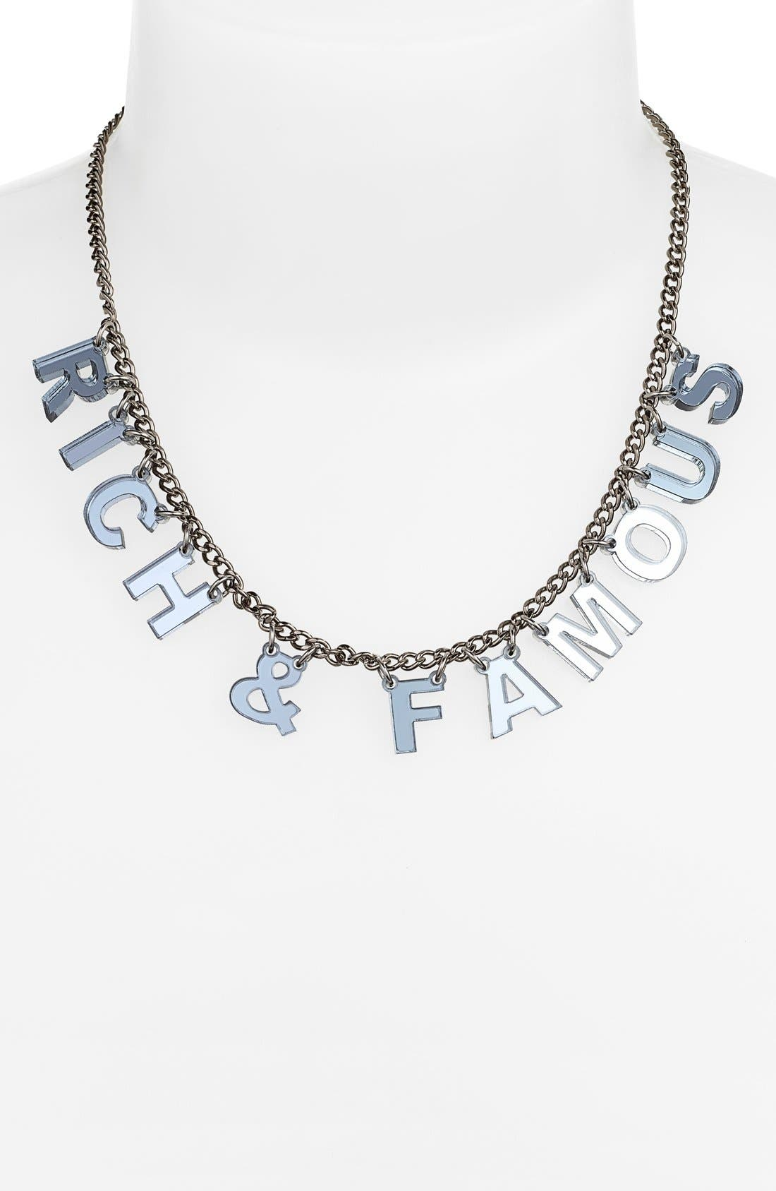 I STILL LOVE YOU NYC,                             Laser Cut Mantra Necklace,                             Alternate thumbnail 3, color,                             020