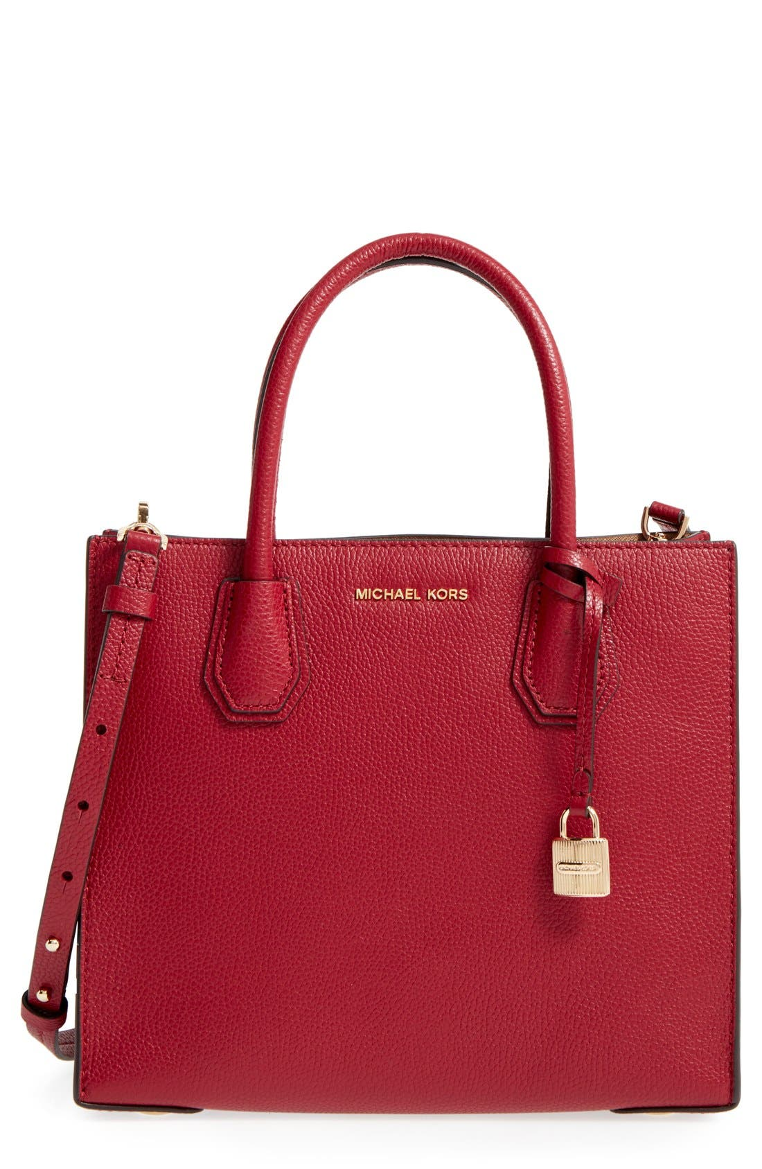 'Medium Mercer' Leather Tote,                             Main thumbnail 8, color,