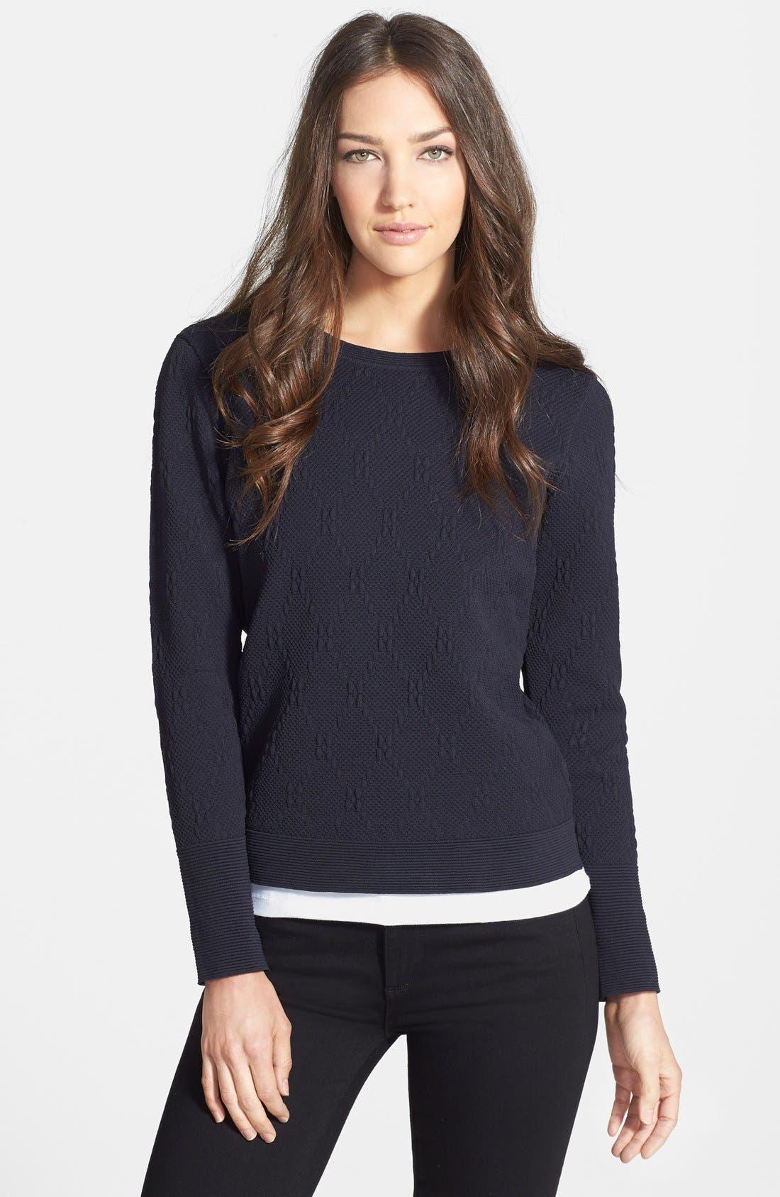 Diamond Jacquard Sweater,                         Main,                         color, 001