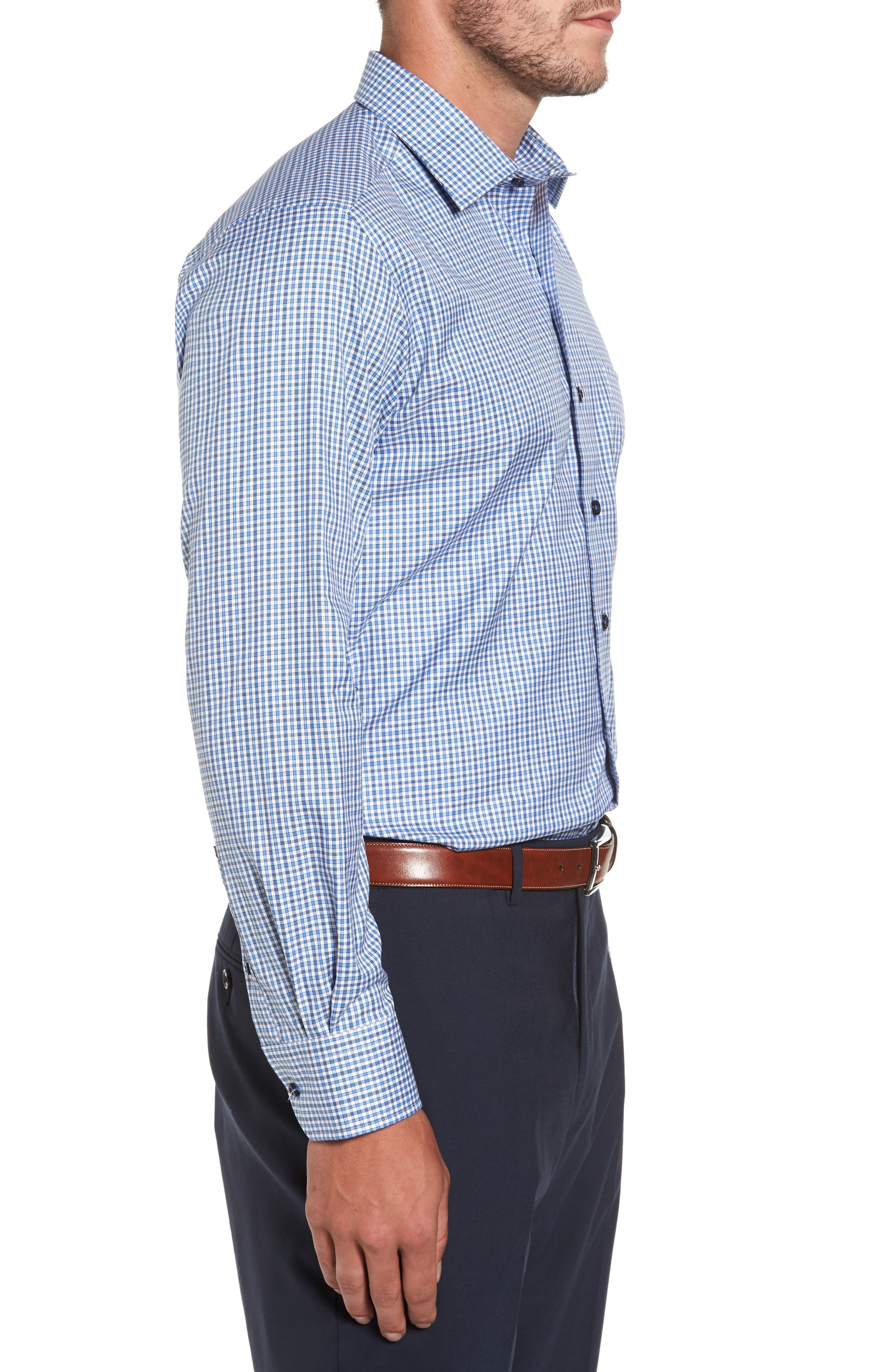 Plaid Regular Fit Sport Shirt,                             Alternate thumbnail 3, color,                             423