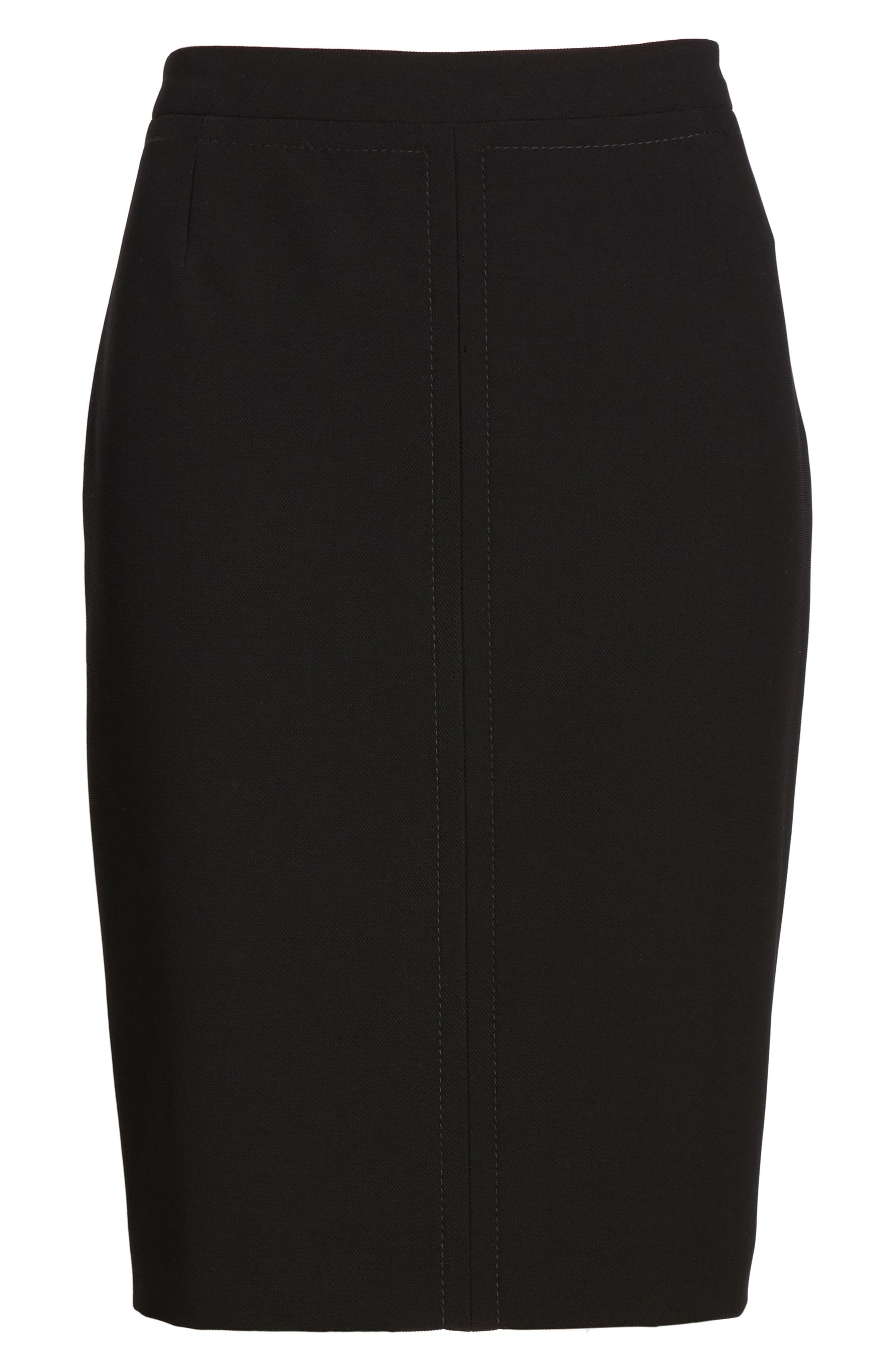 BOSS,                             Vuriona Pencil Skirt,                             Alternate thumbnail 6, color,                             001