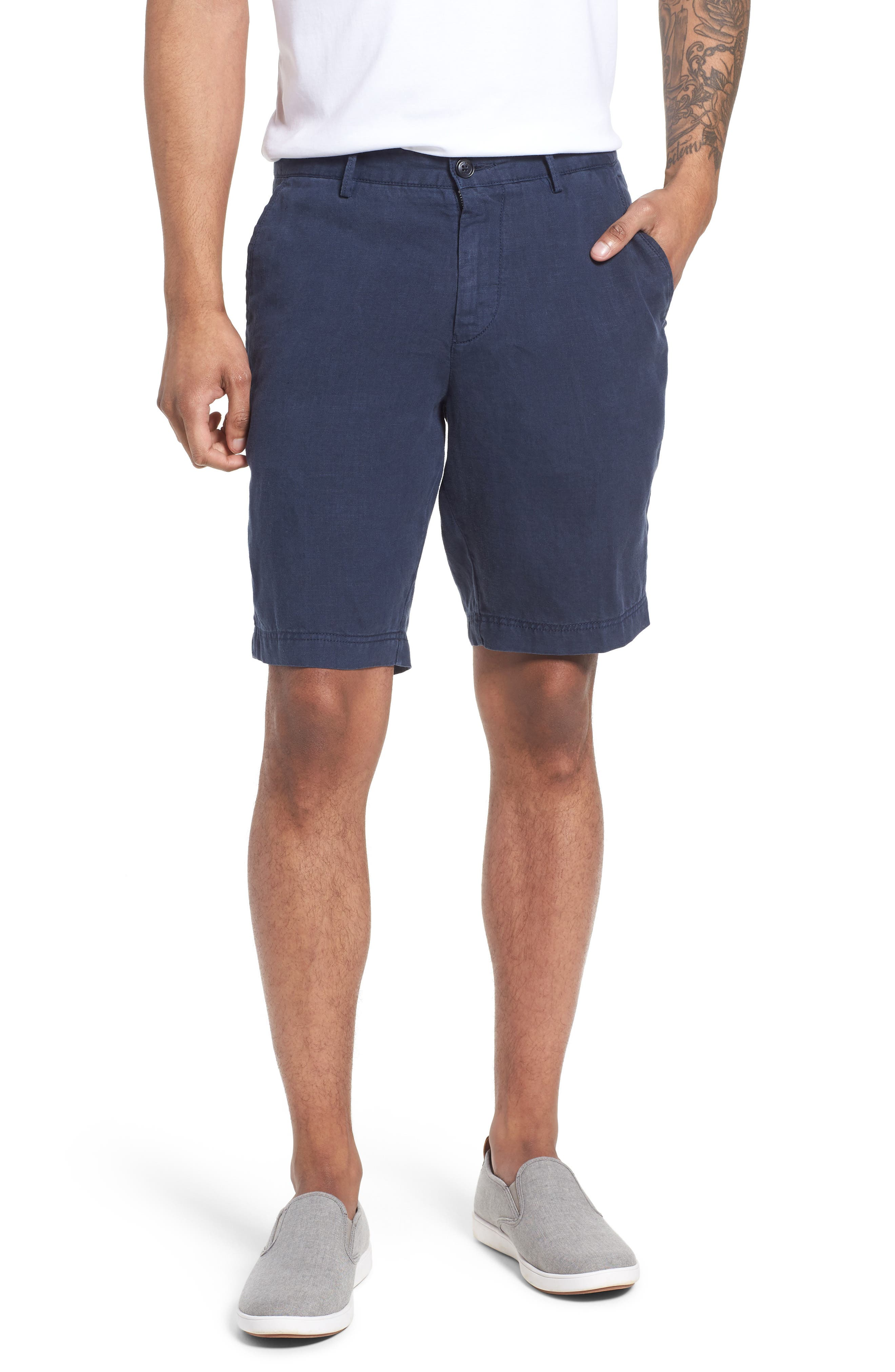 Crigan Linen Shorts,                             Main thumbnail 5, color,