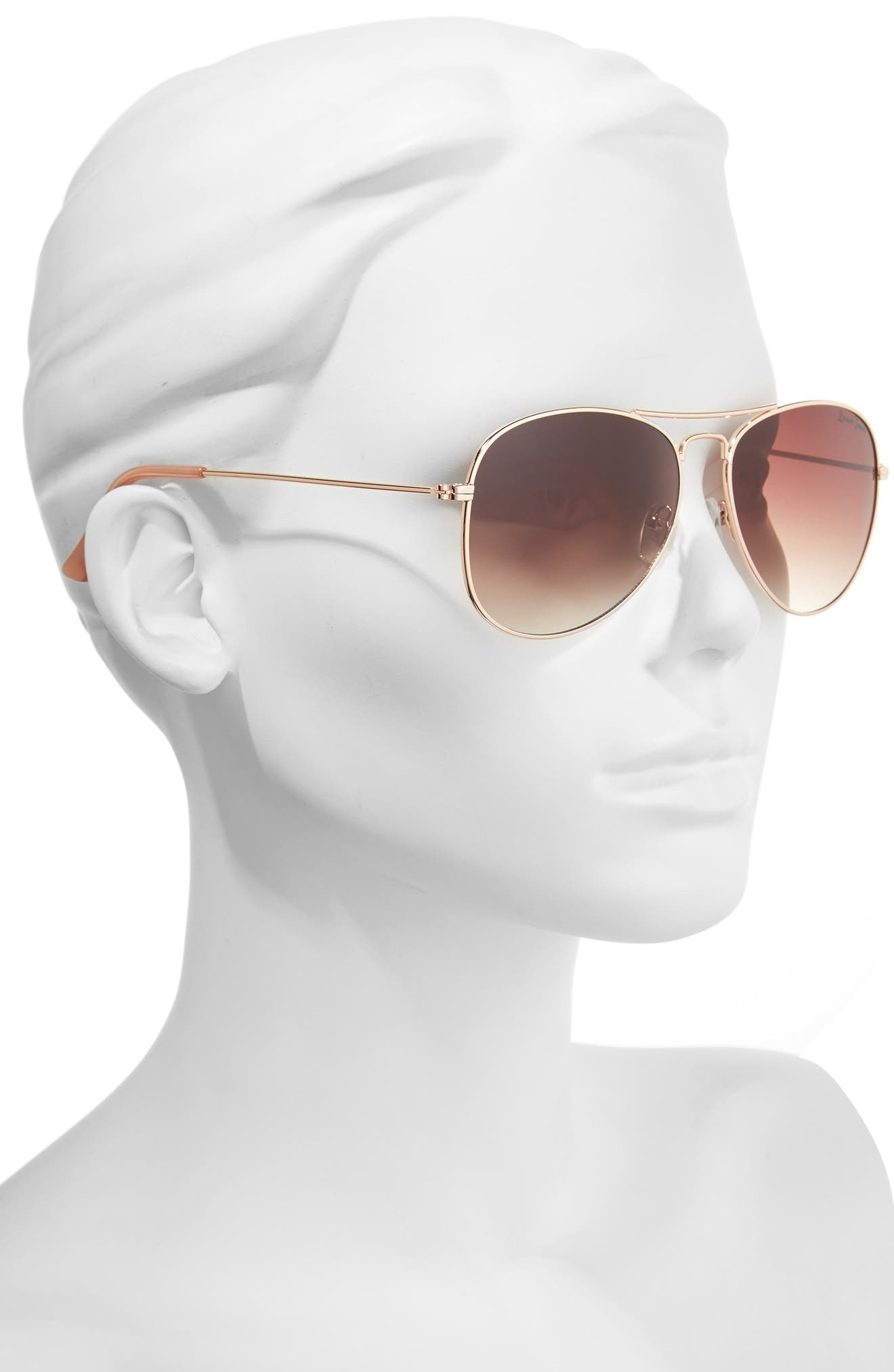 58mm Gradient Aviator Sunglasses,                             Alternate thumbnail 4, color,