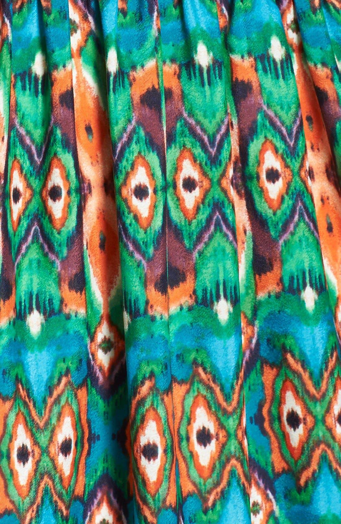 Print Crêpe de Chine Maxi Dress,                             Alternate thumbnail 4, color,                             898