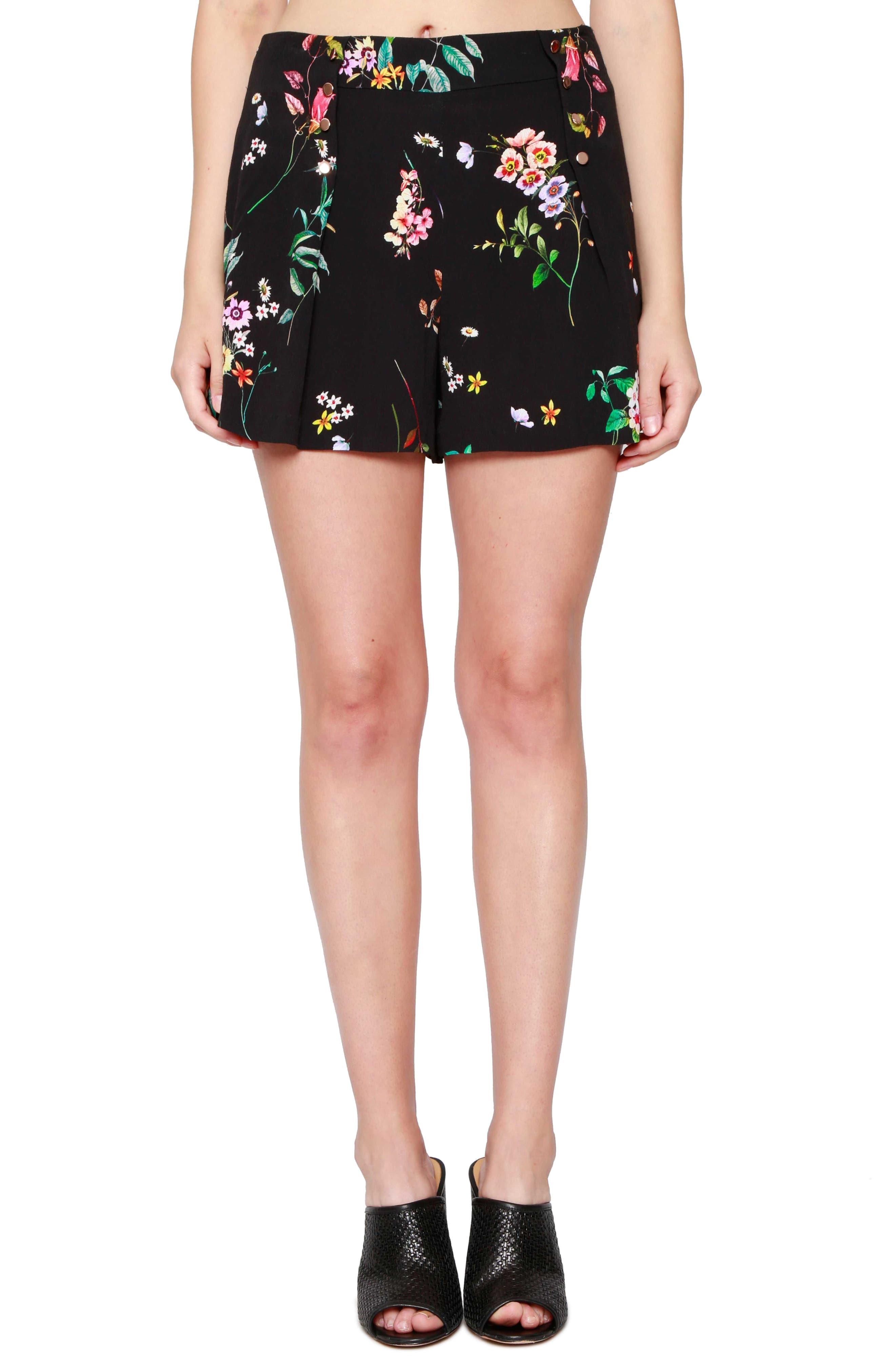 Floral Print Sailor Shorts,                         Main,                         color, 001